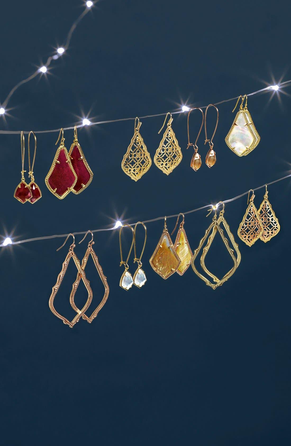 'Carrine' Semiprecious Stone Drop Earrings,                             Alternate thumbnail 17, color,
