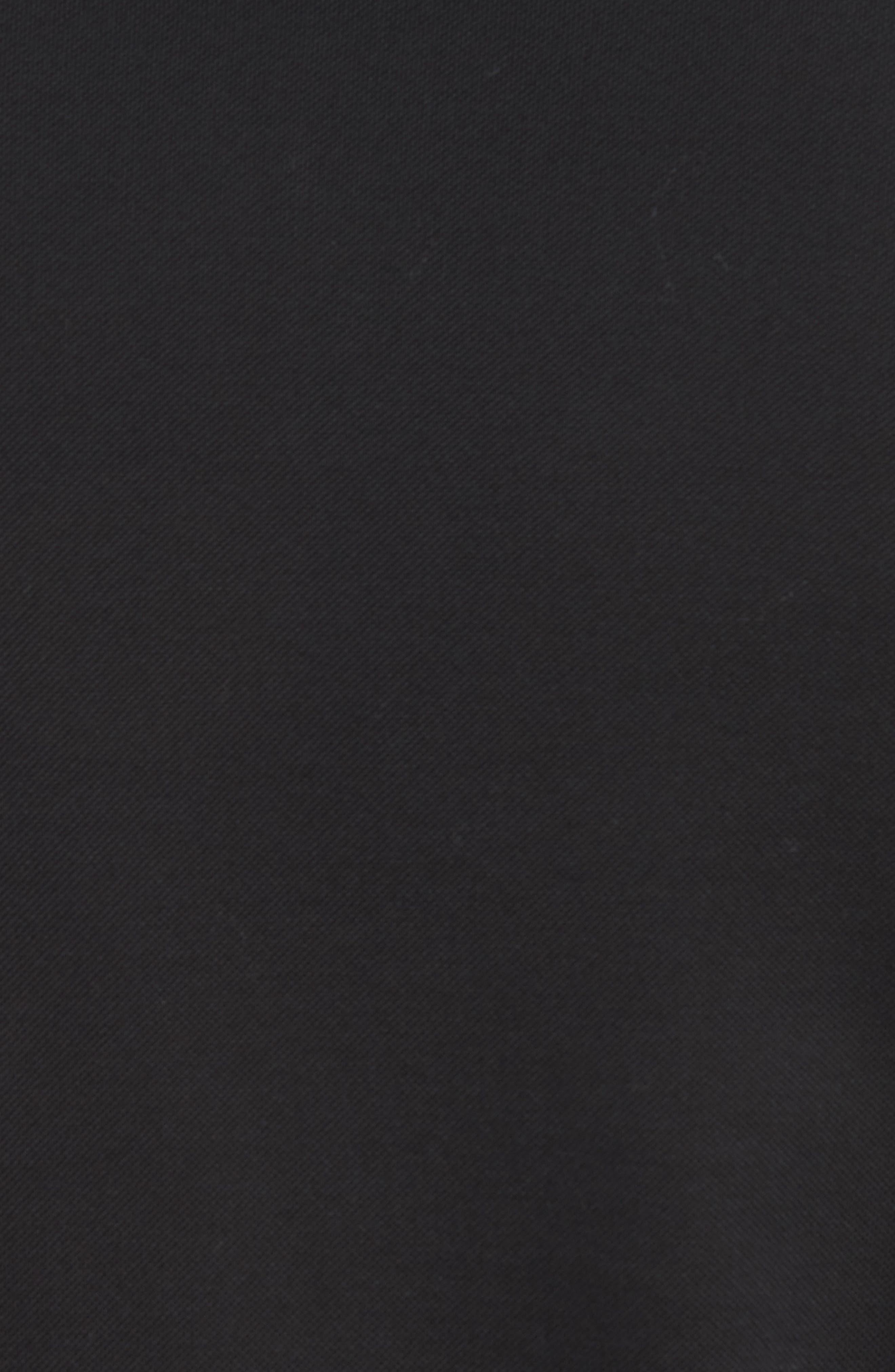 Grosgrain Collar Polo,                             Alternate thumbnail 5, color,                             BLACK