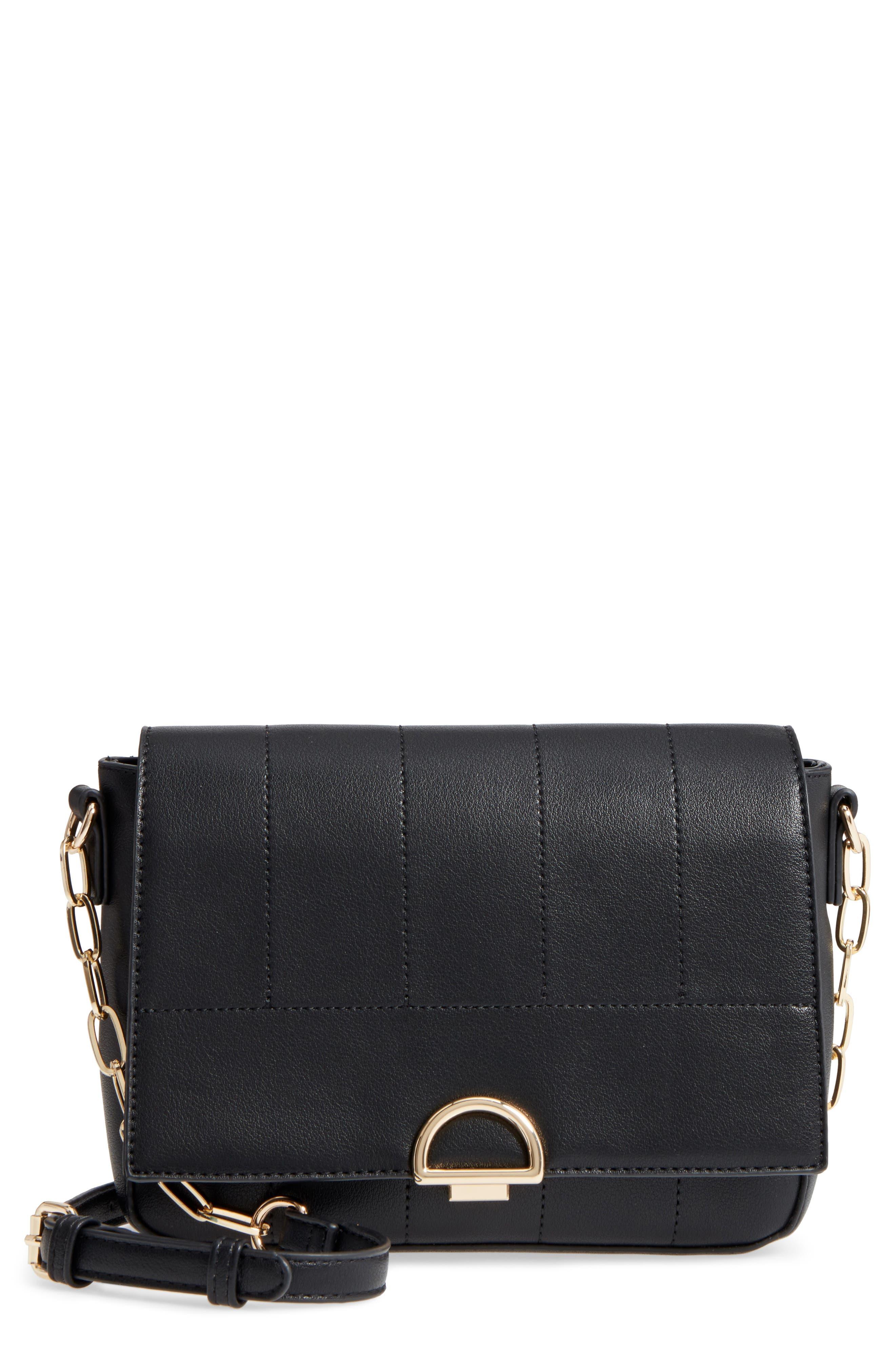 Colie Faux Leather Crossbody Bag,                             Main thumbnail 1, color,                             001