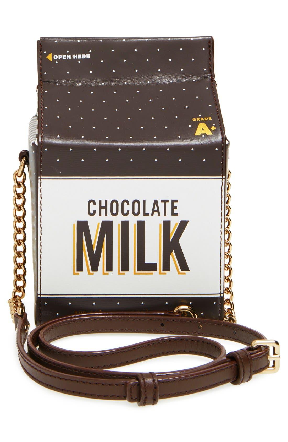 KATE SPADE NEW YORK,                             'de la crème' milk container crossbody bag,                             Alternate thumbnail 3, color,                             974