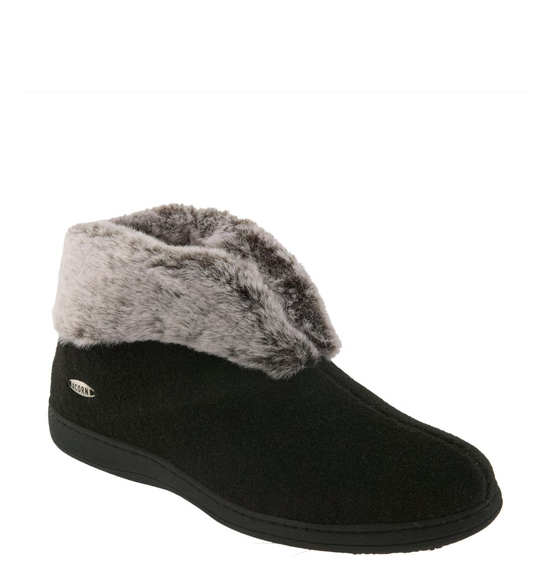 'Chinchilla' Slipper,                         Main,                         color, BLACK