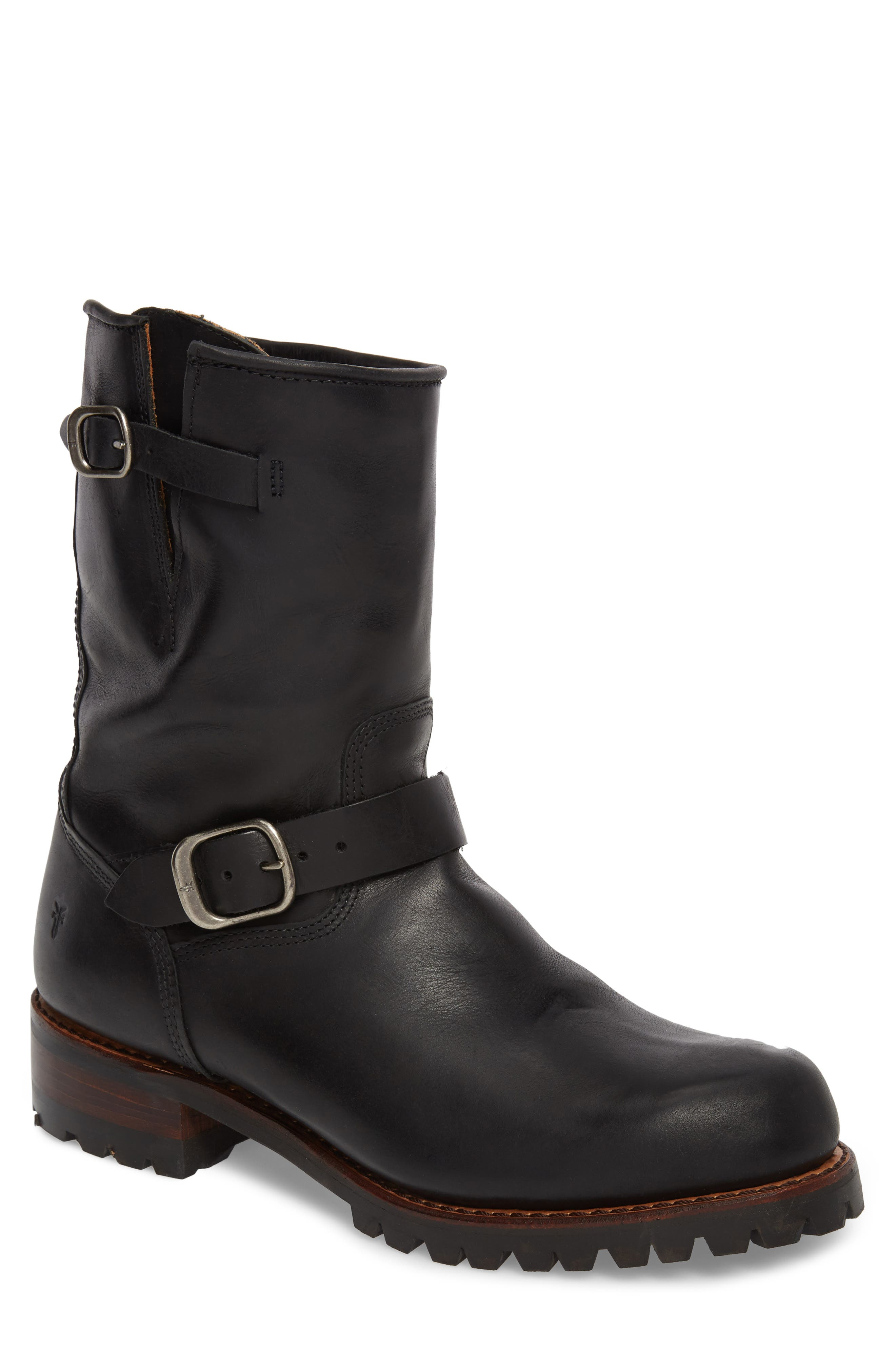 Addison Waterproof Engineer Boot,                         Main,                         color, 001