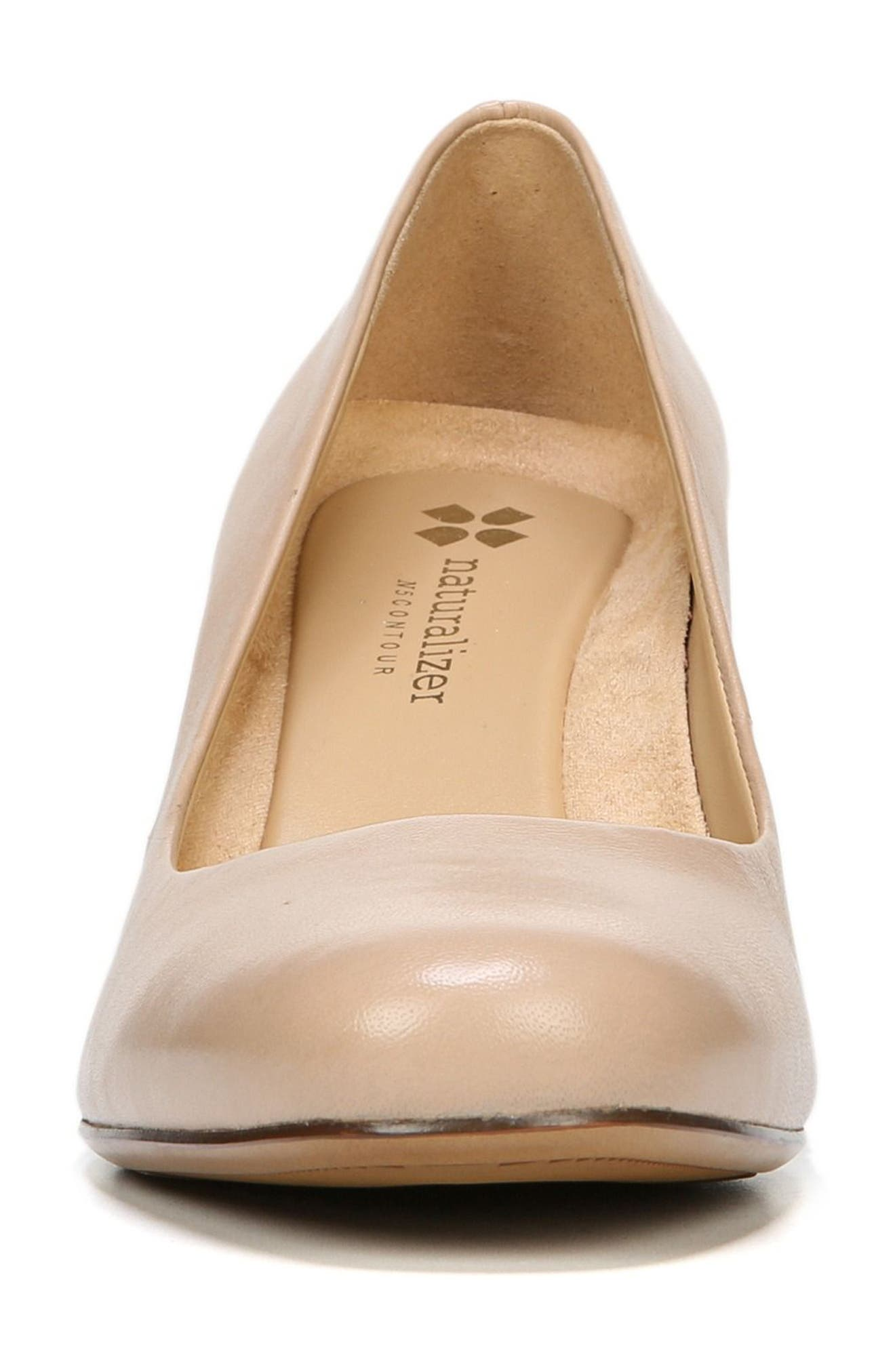 Whitney Pump,                             Alternate thumbnail 4, color,                             TENDER TAUPE LEATHER