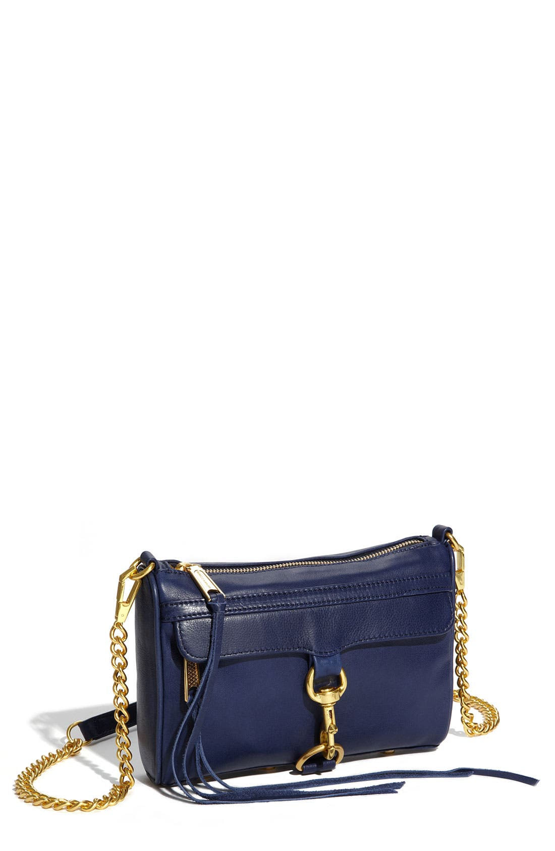 'Mini MAC' Croc Embossed Convertible Crossbody Bag,                             Main thumbnail 12, color,