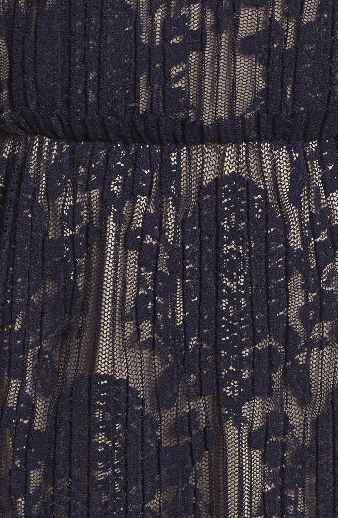 Lace Midi Dress,                             Alternate thumbnail 5, color,                             402