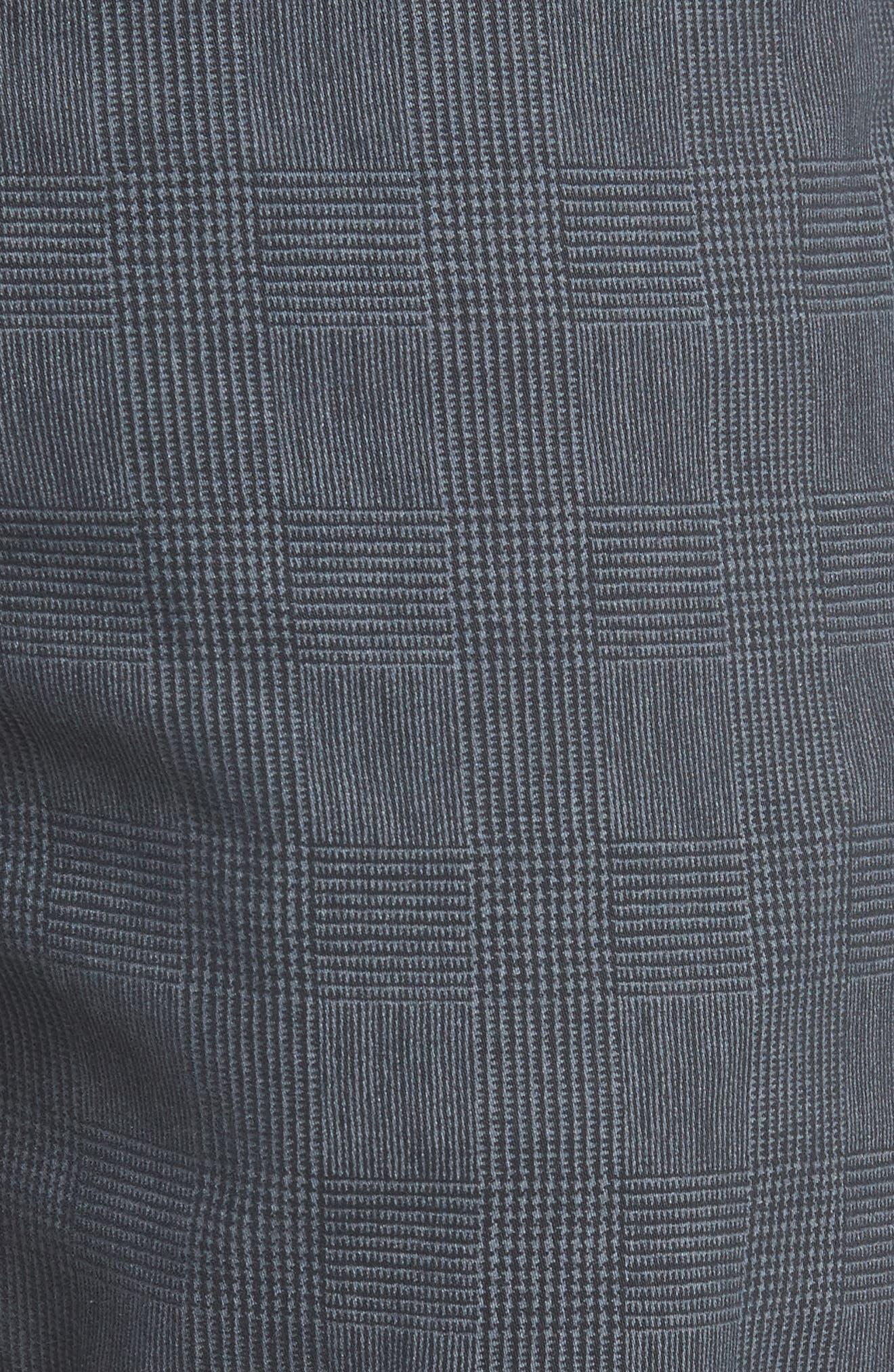 Everett SUD Print Slim Straight Leg Pants,                             Alternate thumbnail 5, color,                             FINE PLAID GREY STONE
