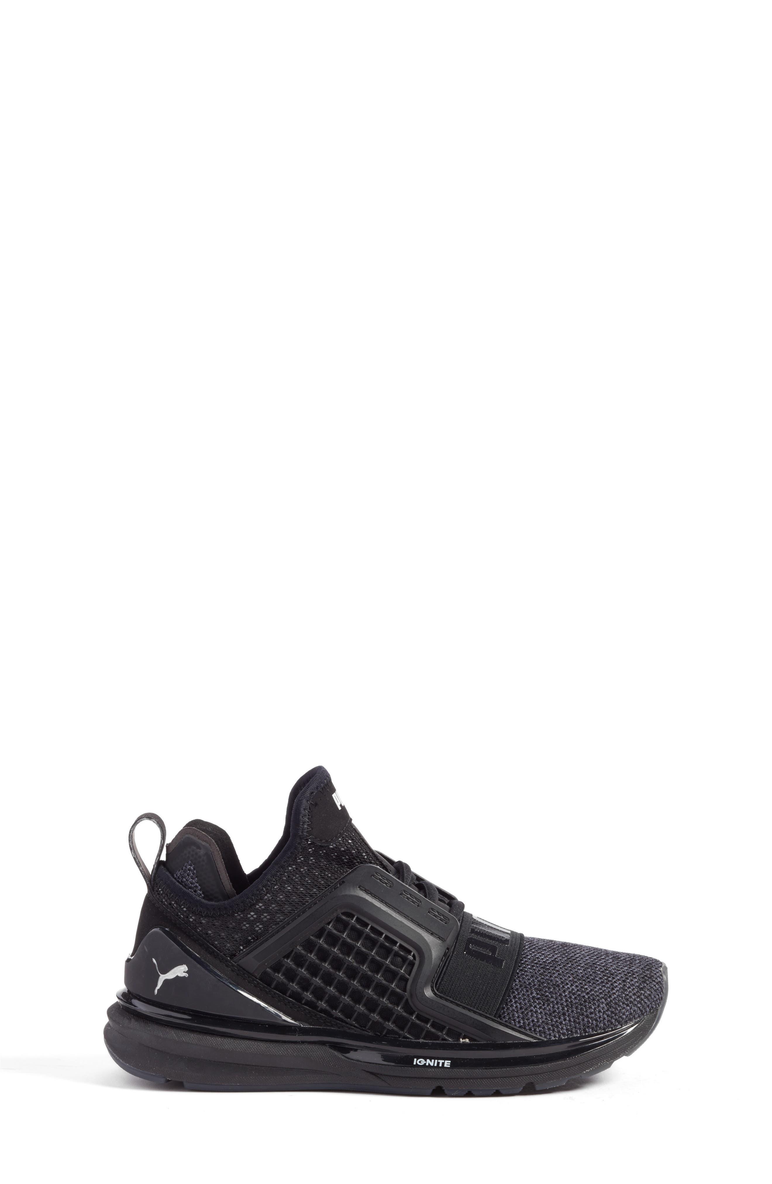 Ignite Limitless Sneaker,                             Alternate thumbnail 3, color,                             001