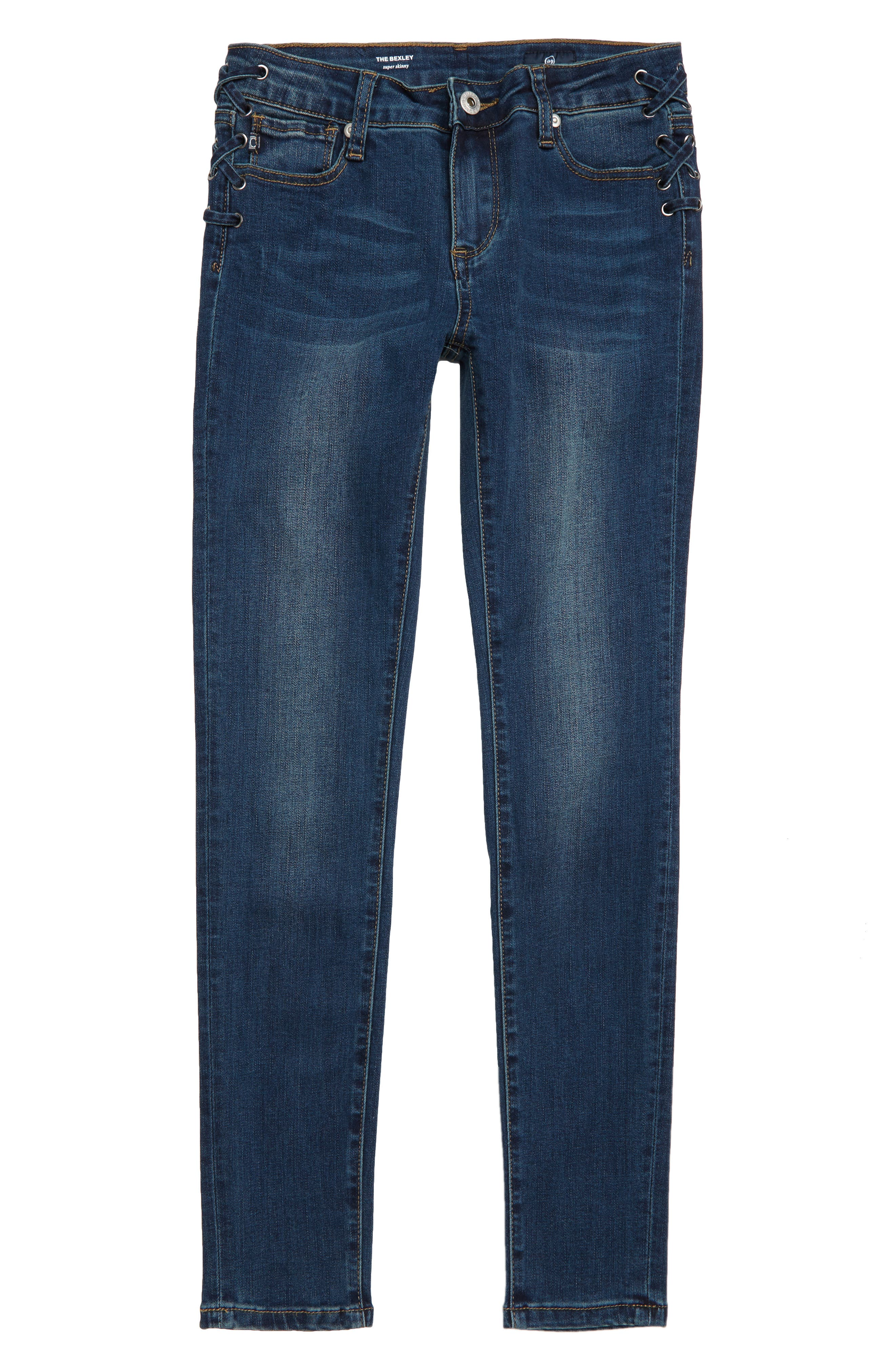 The Bexley Laced-Up Super Skinny Jeans,                             Main thumbnail 1, color,                             472