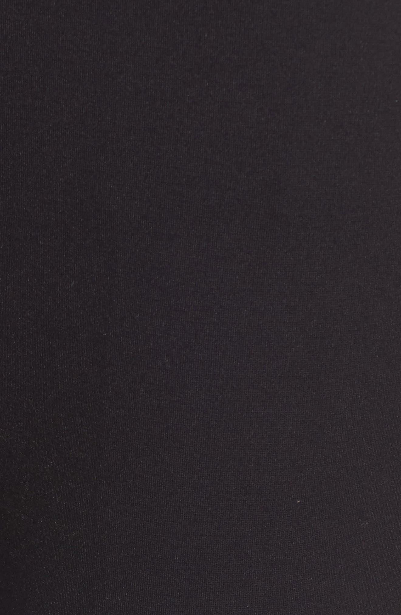 Stretch Knit Trousers,                             Alternate thumbnail 5, color,                             BLACK