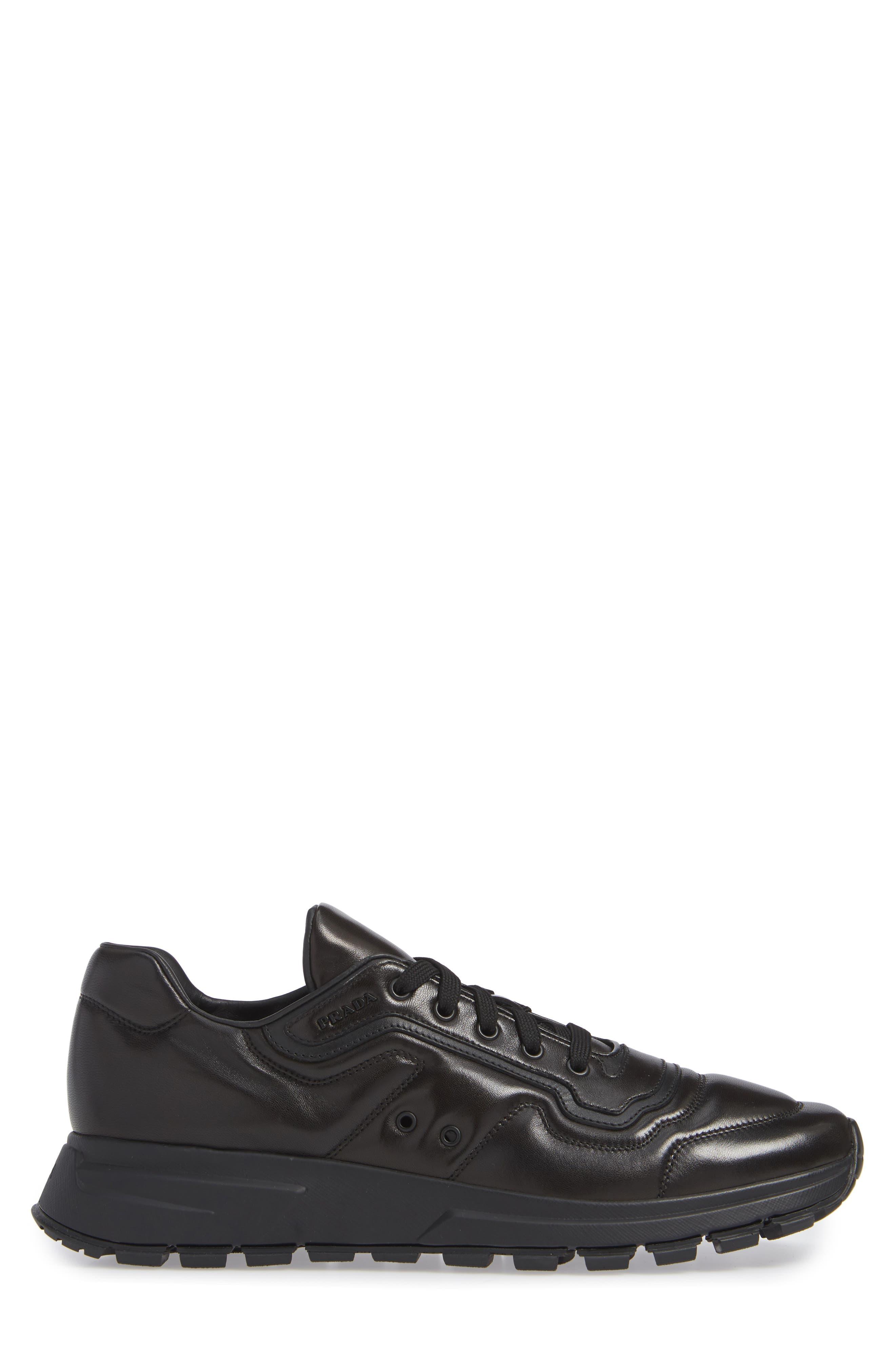PRADA,                             Trainer Sneaker,                             Alternate thumbnail 3, color,                             NERO