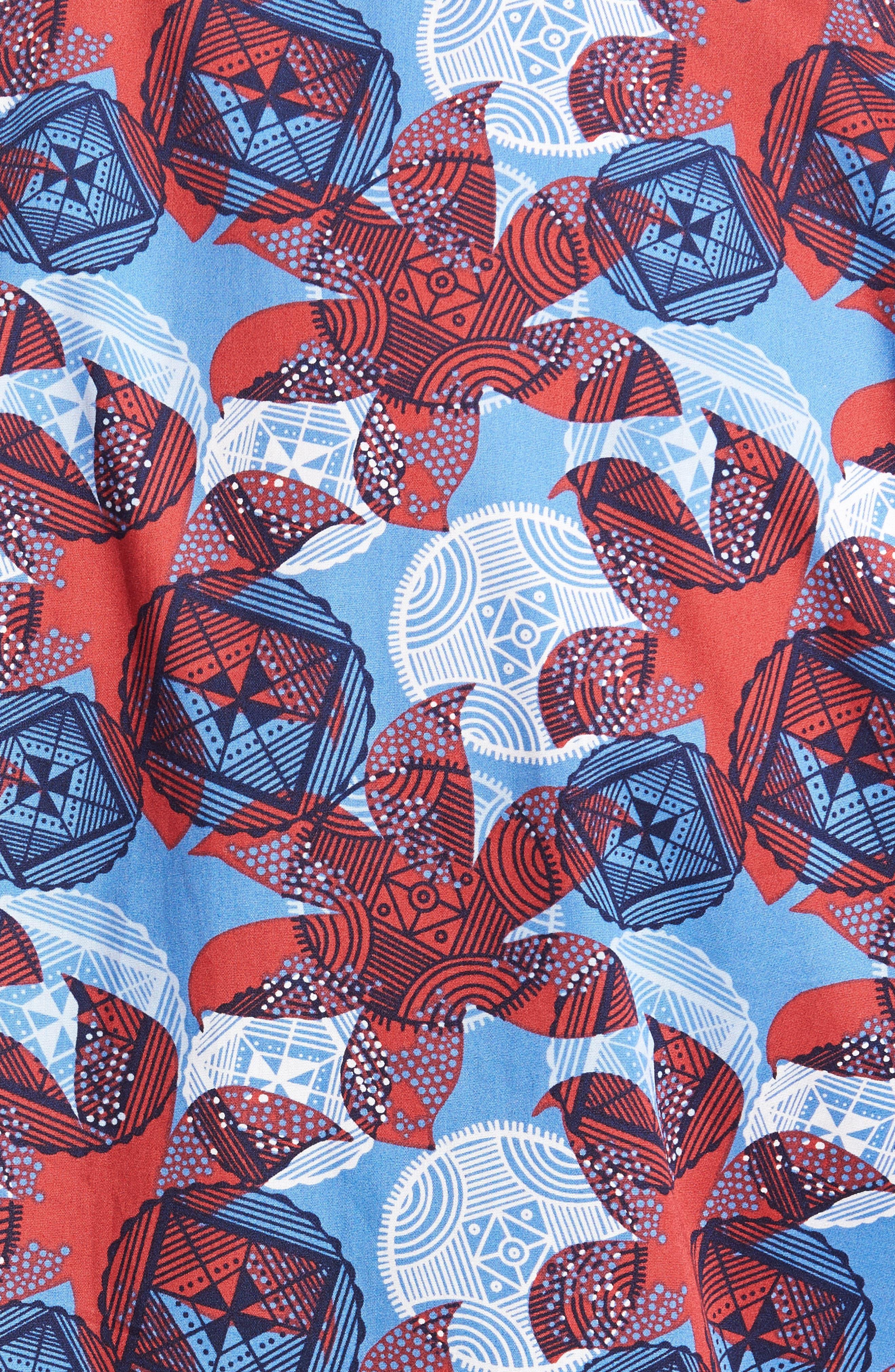 Cider Regular Fit Abstract Pattern Sport Shirt,                             Alternate thumbnail 5, color,                             600