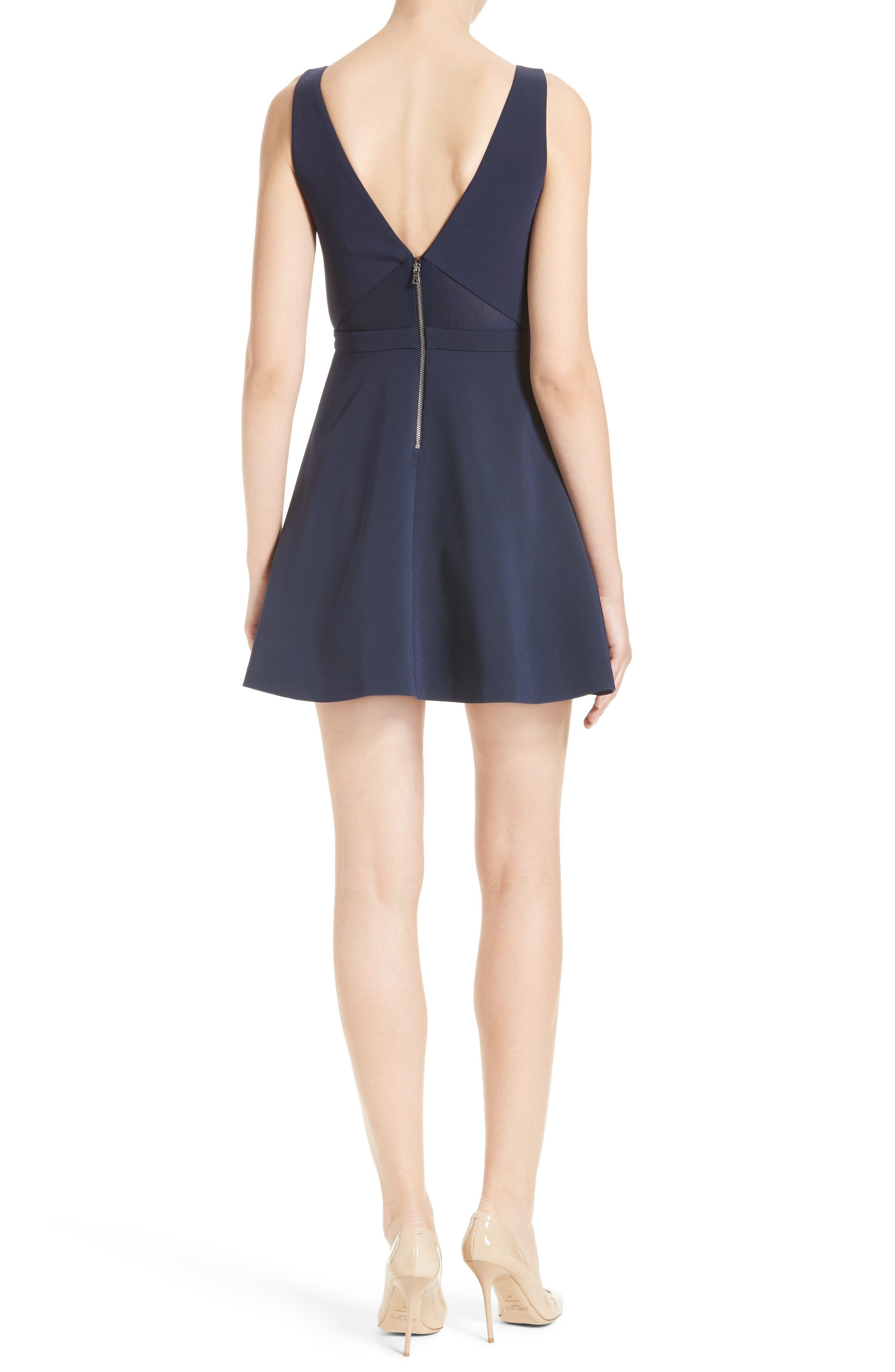 Nina Cutout Fit & Flare Dress,                             Alternate thumbnail 2, color,                             410