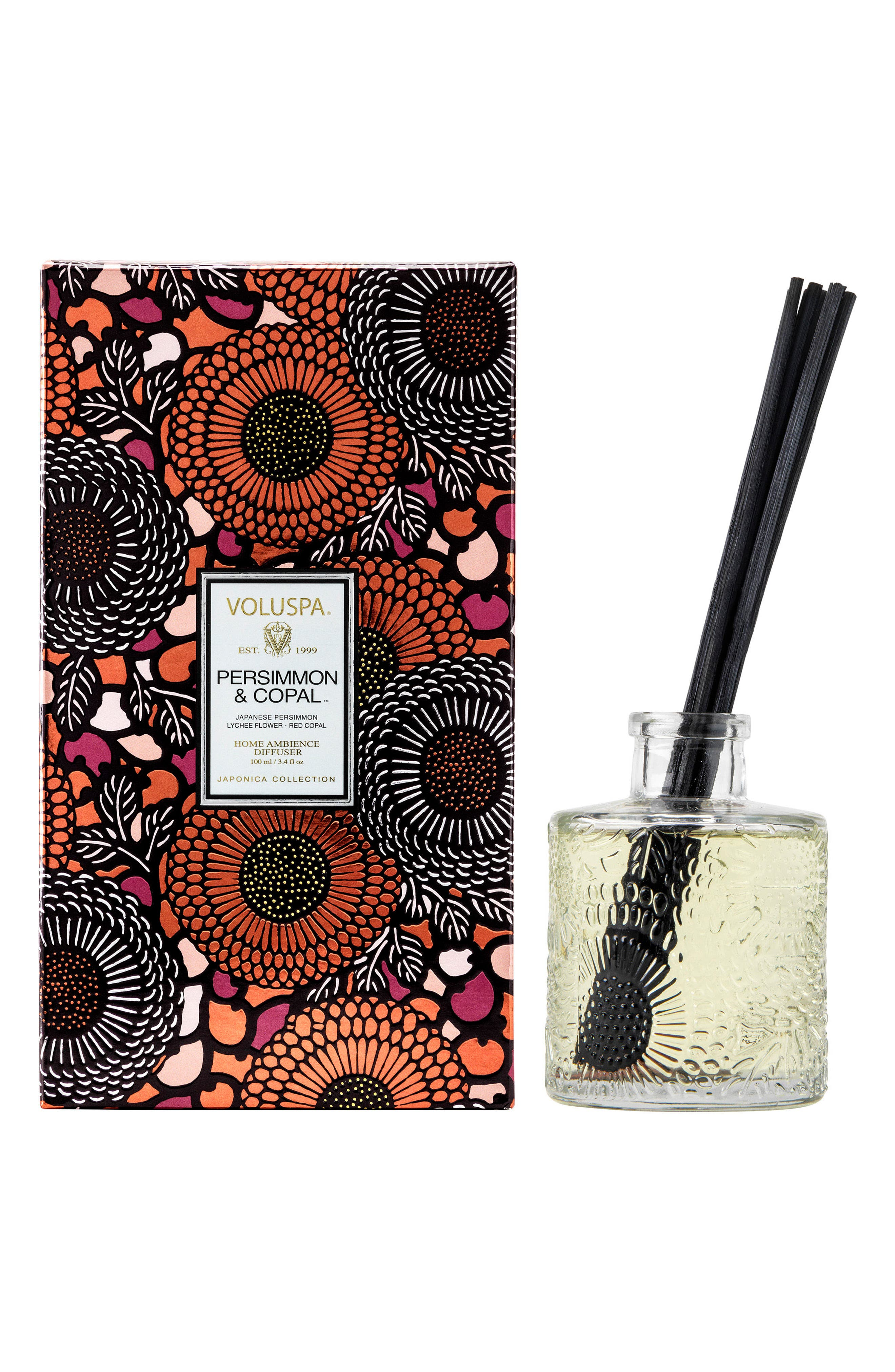 Japonica - Persimmon & Copal Home Ambiance Diffuser,                             Main thumbnail 1, color,                             650