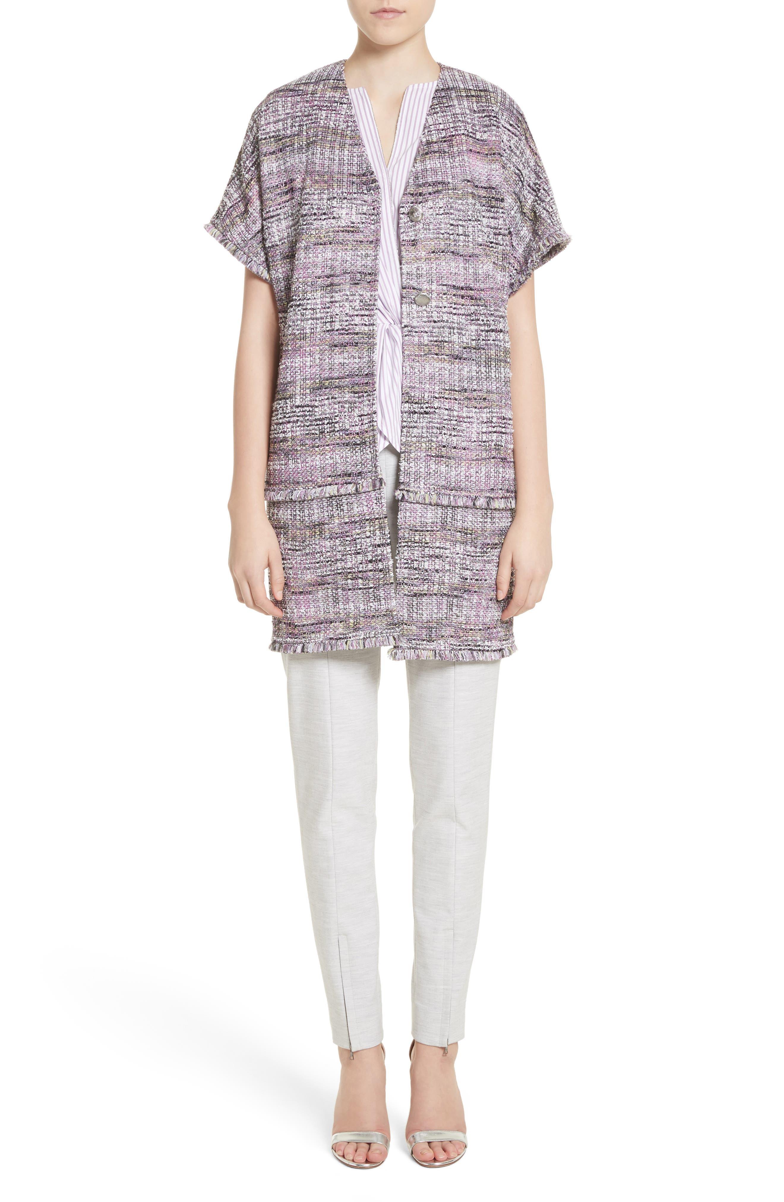 Anna Stripe Tweed Dolman Jacket,                             Alternate thumbnail 7, color,