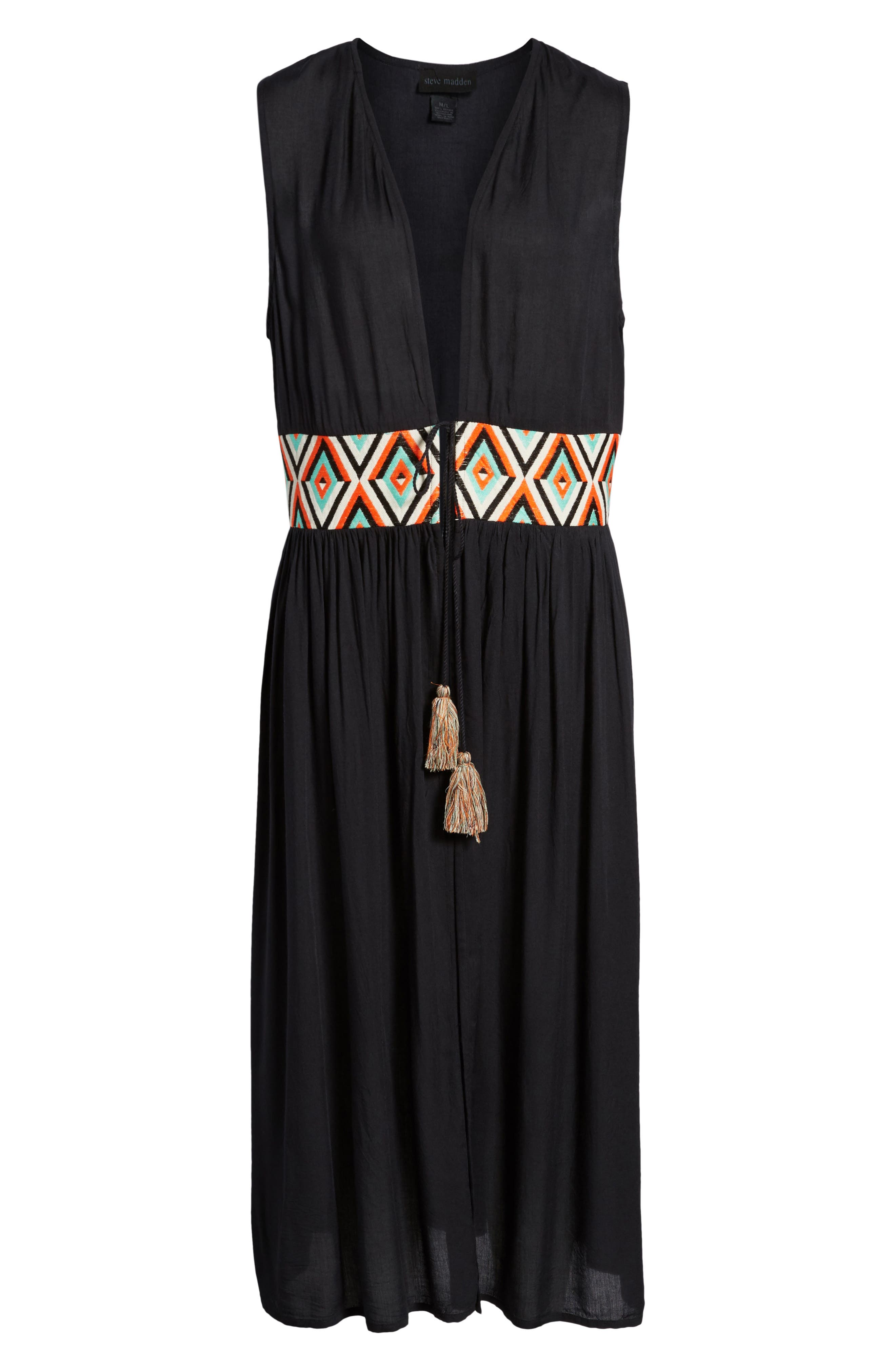 Chevron Waist Duster,                             Alternate thumbnail 6, color,                             001