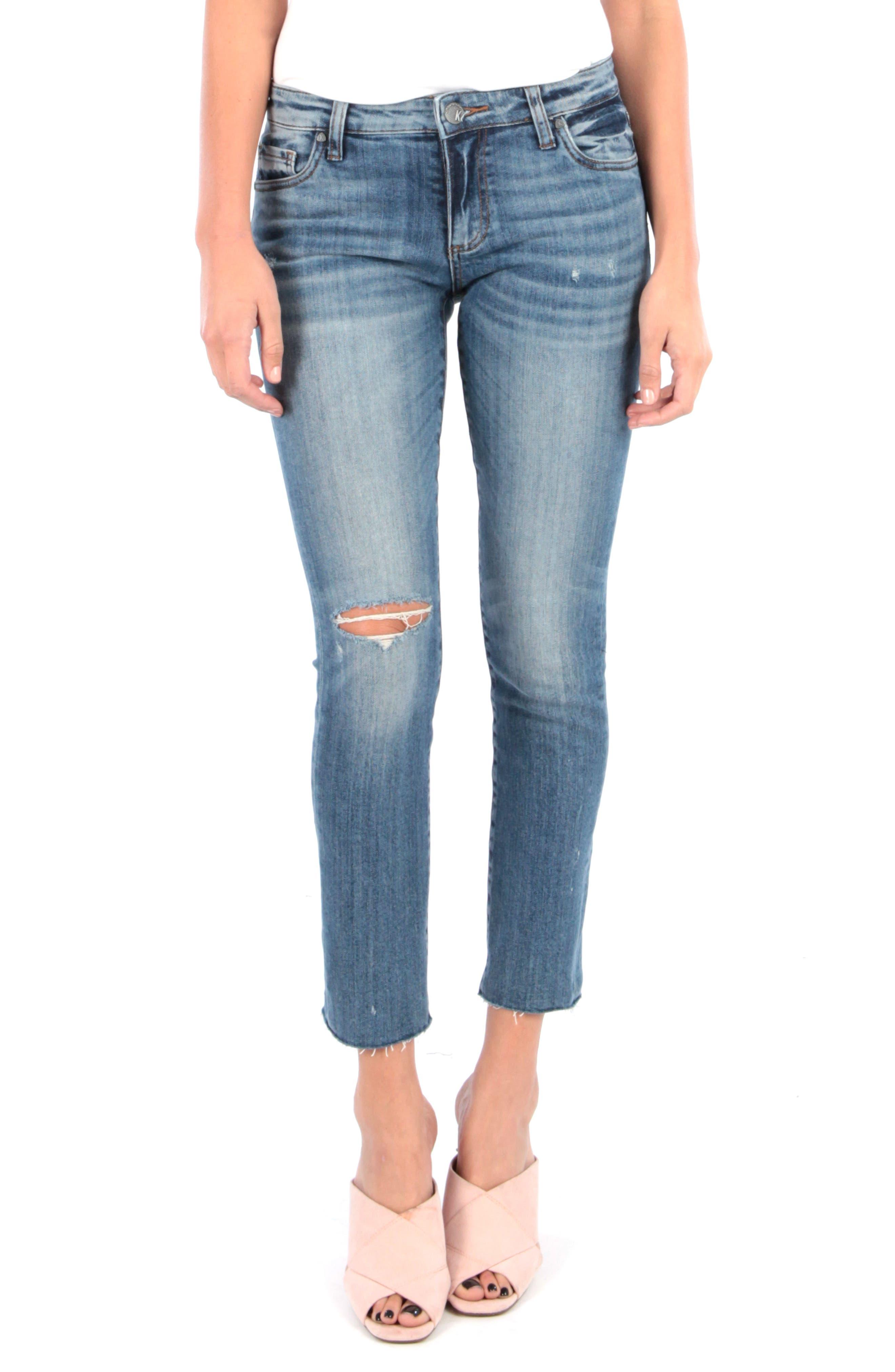 Kut From The Kloth Reese Raw Hem Straight Leg Jeans