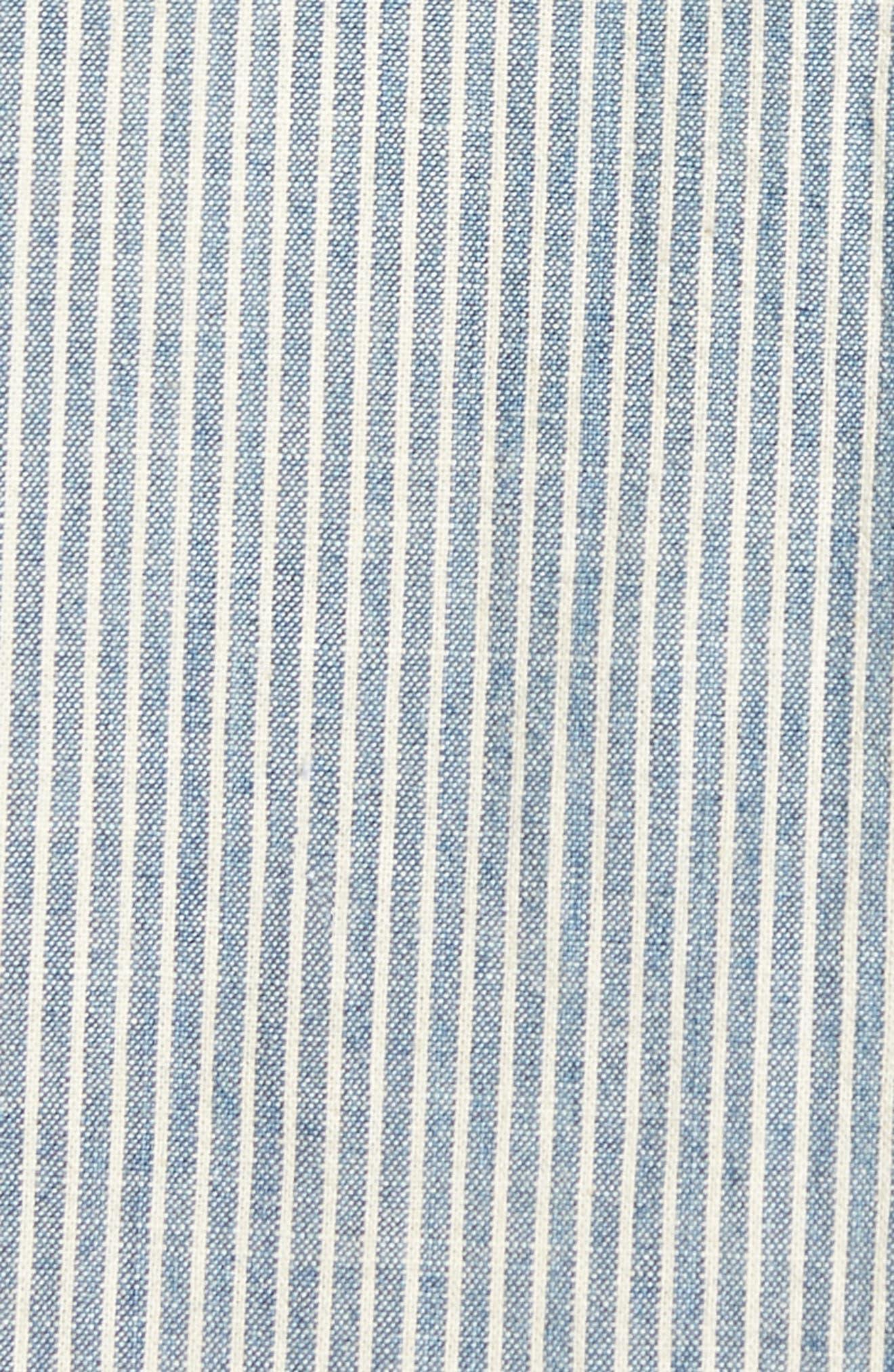 Nelson Slim Fit Stripe Sport Shirt,                             Alternate thumbnail 5, color,                             049