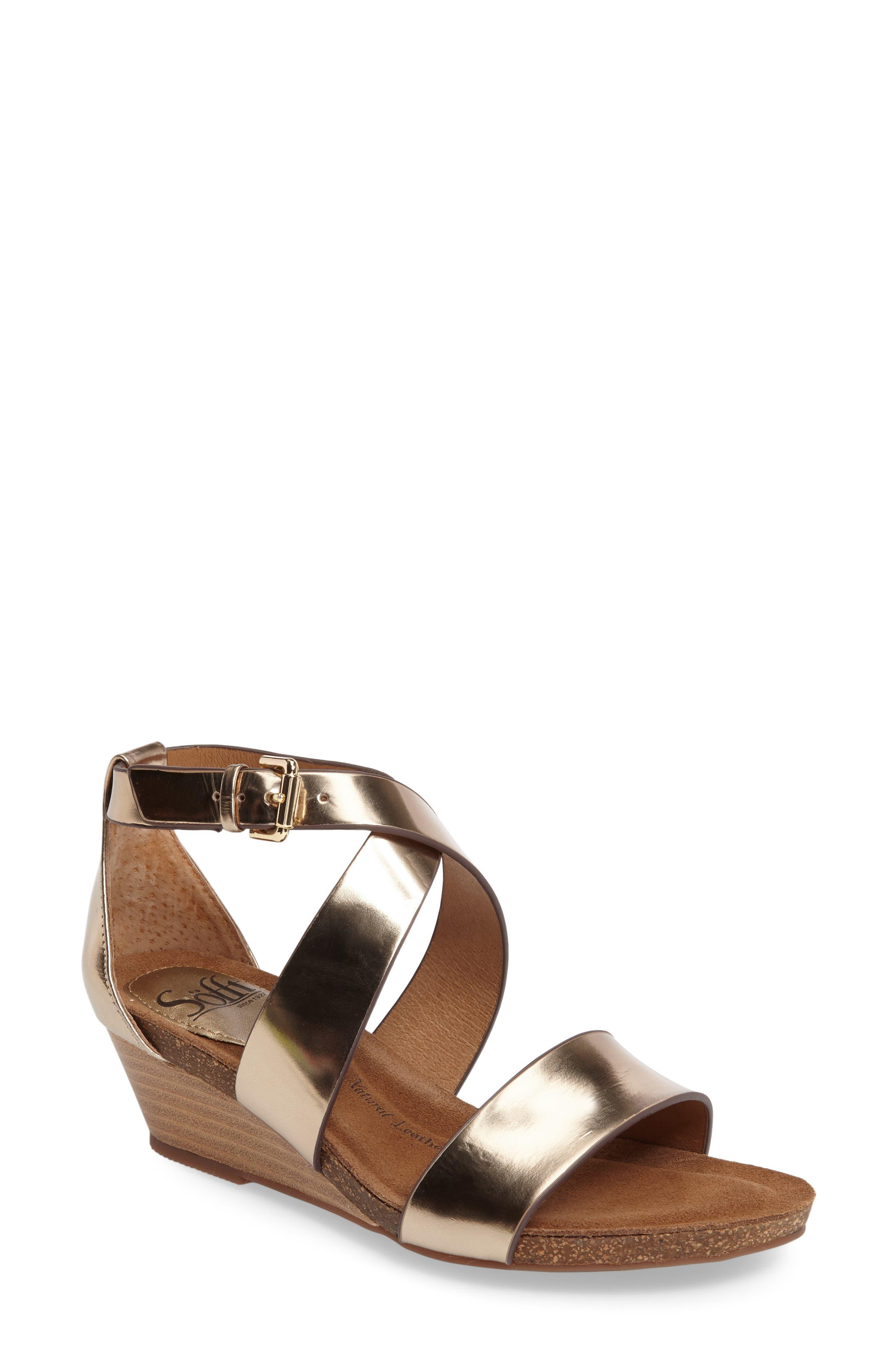 Vita Strappy Wedge Sandal,                             Main thumbnail 3, color,