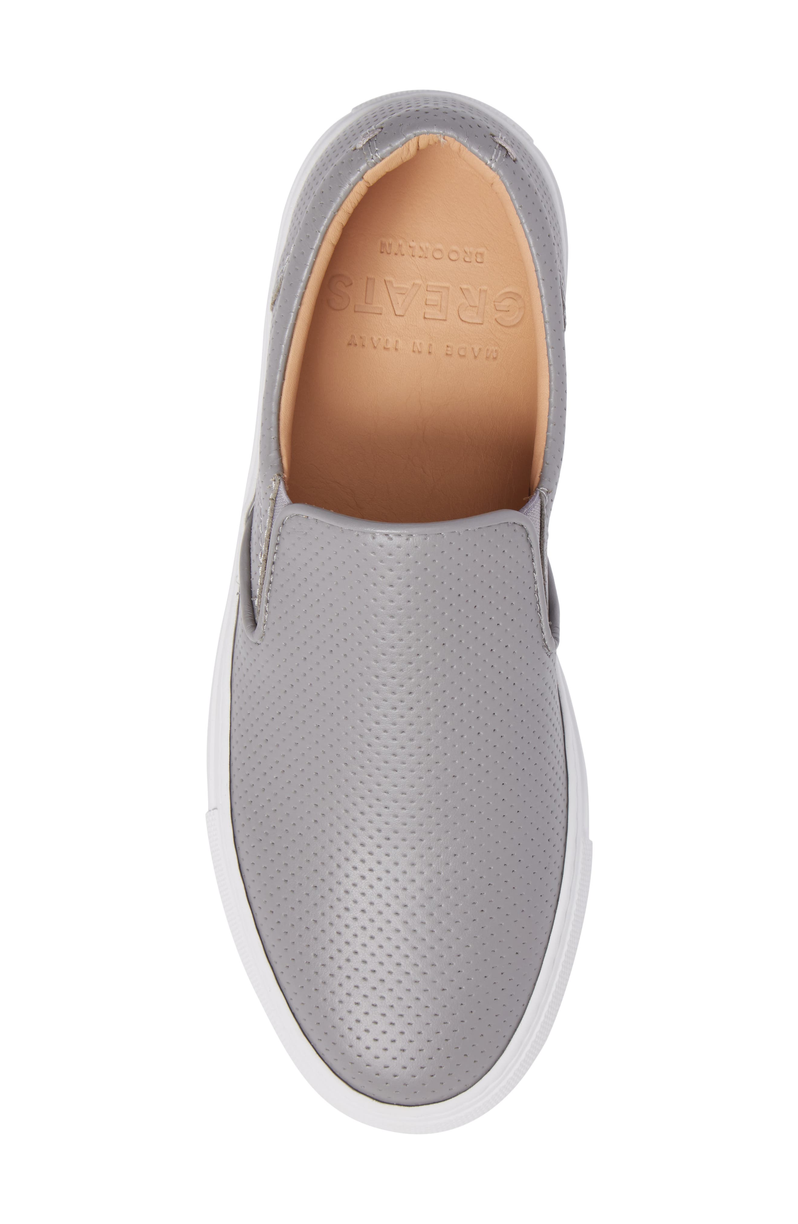 Wooster Slip-On Sneaker,                             Alternate thumbnail 5, color,                             GREY PERFORATED