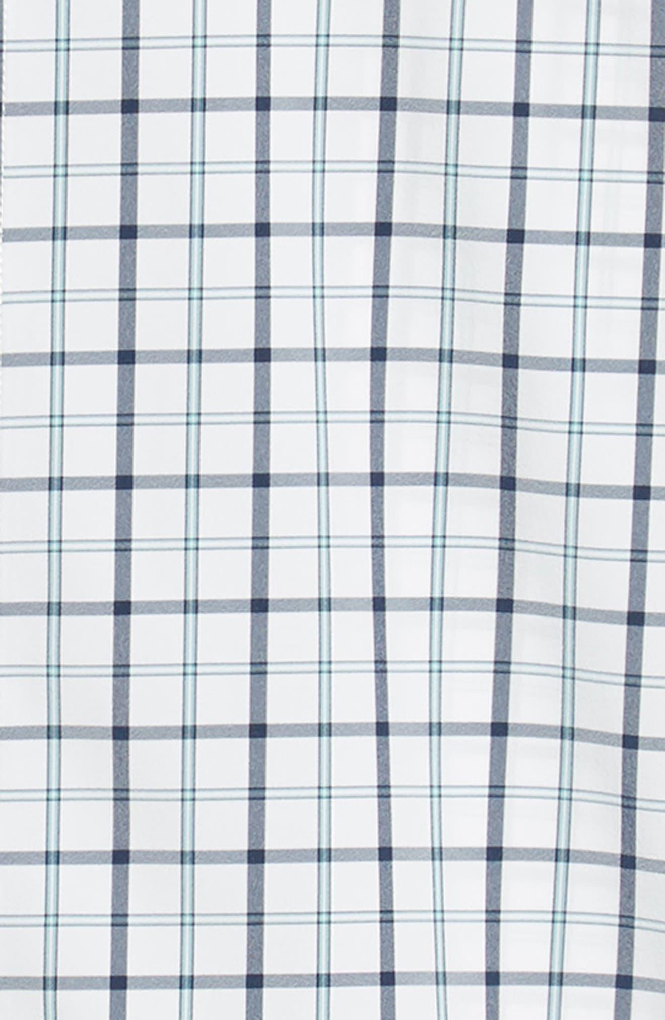 Bowers Regular Fit Check Performance Sport Shirt,                             Alternate thumbnail 6, color,                             NAVY