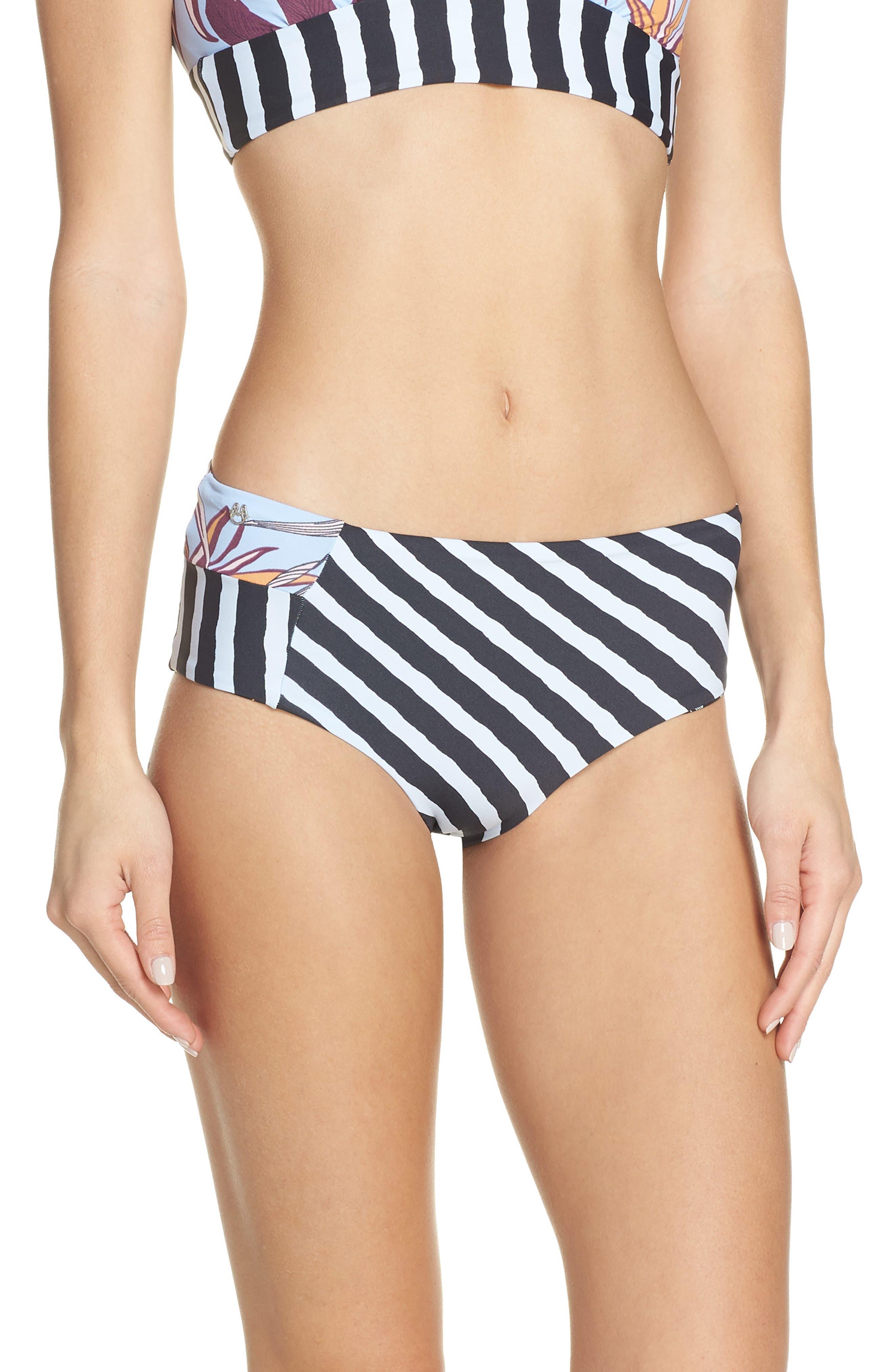 Gimme Brigadeiros Reversible Bikini Bottoms, Main, color, MULTI BLACK