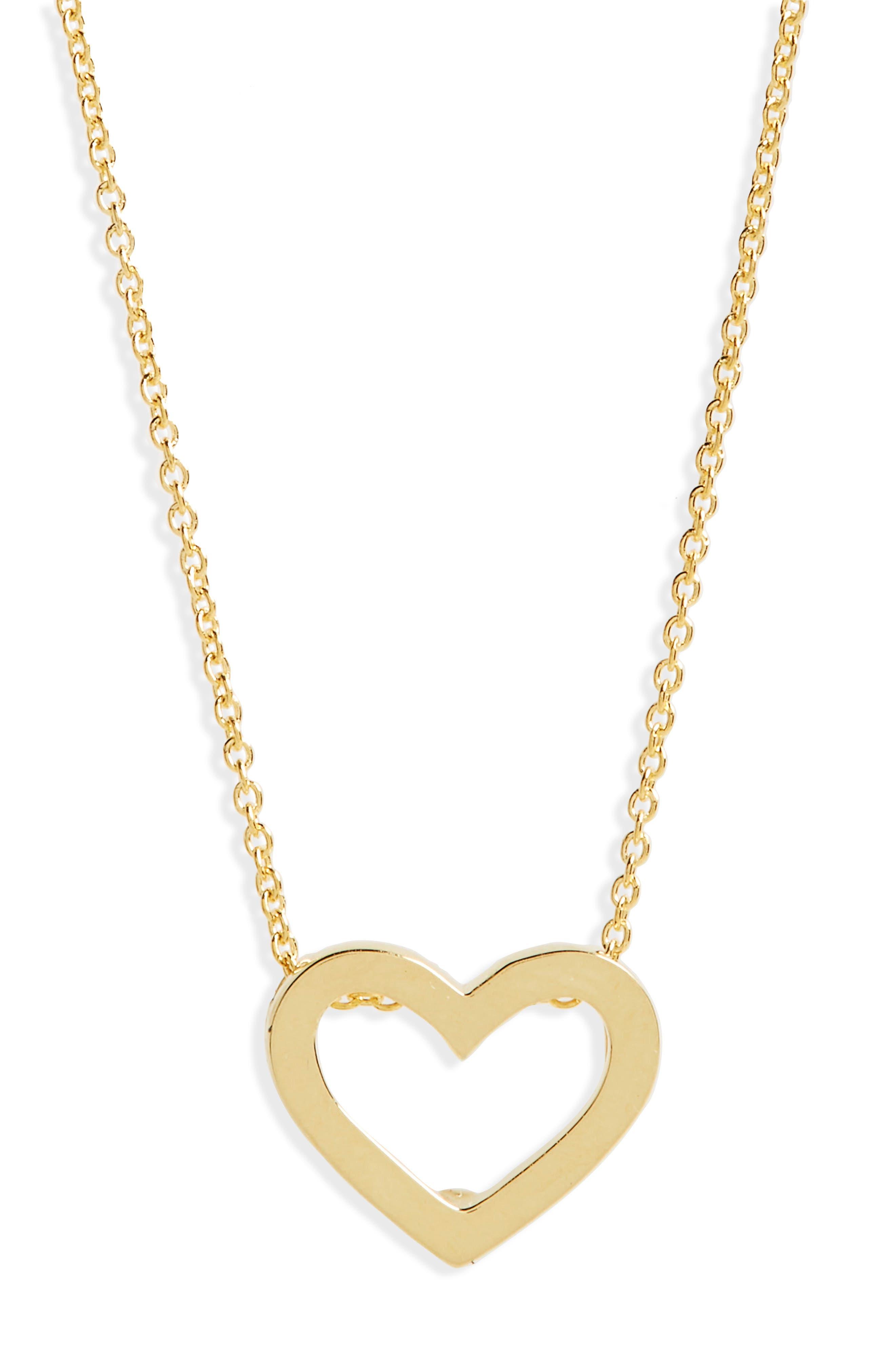 ROBERTO COIN Gold Open Heart Necklace, Main, color, 701
