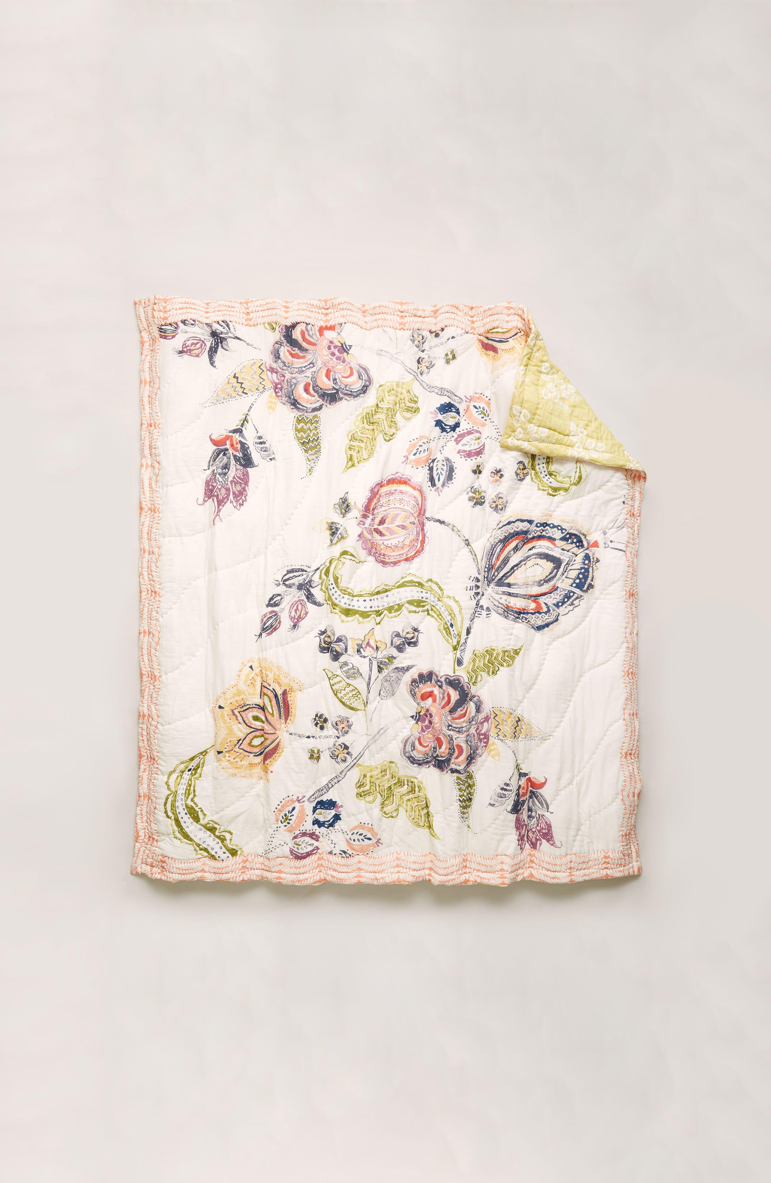 Woodblock Floral Quilt,                             Alternate thumbnail 3, color,