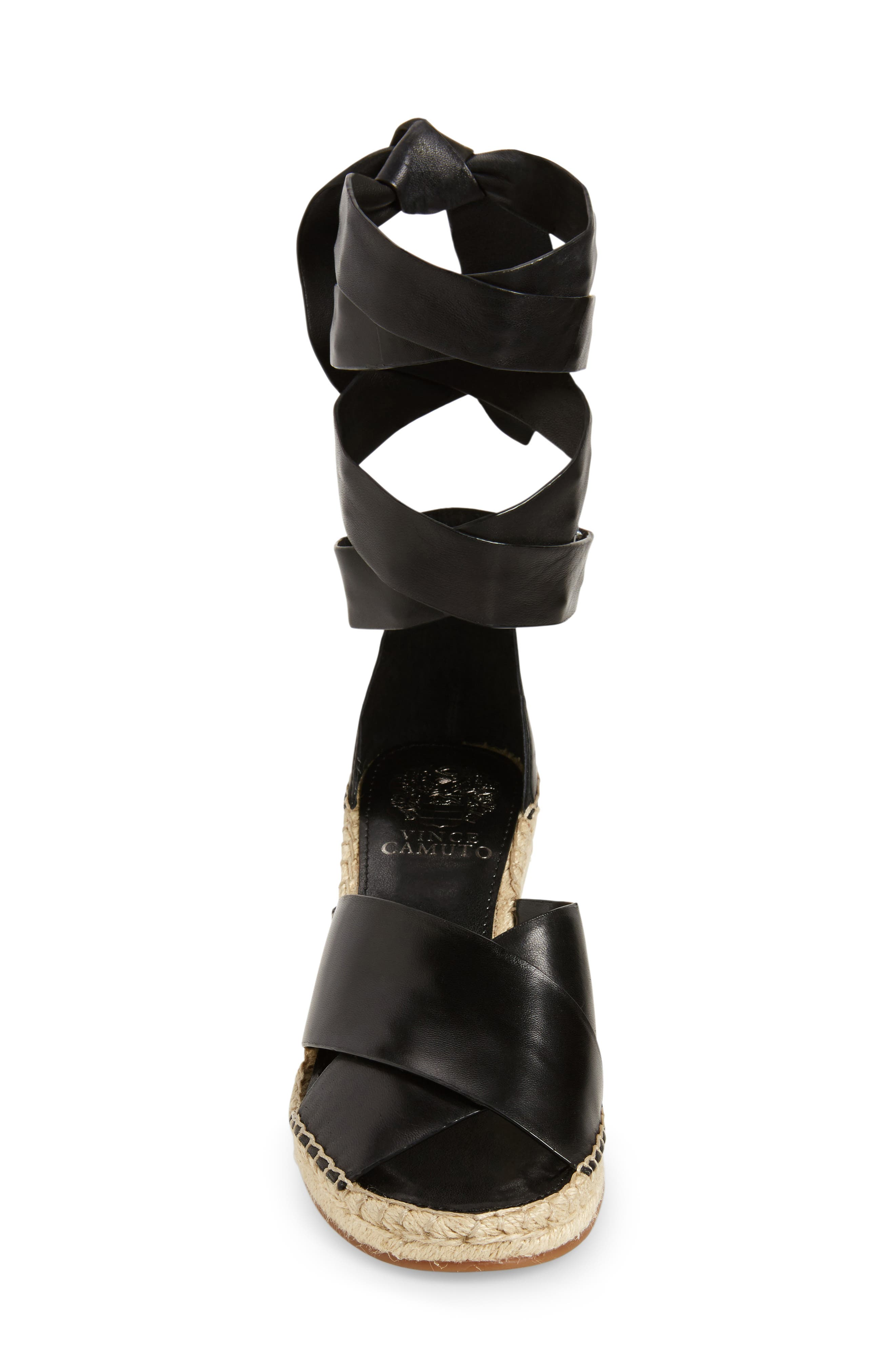 Leddy Wedge Sandal,                             Alternate thumbnail 3, color,                             001