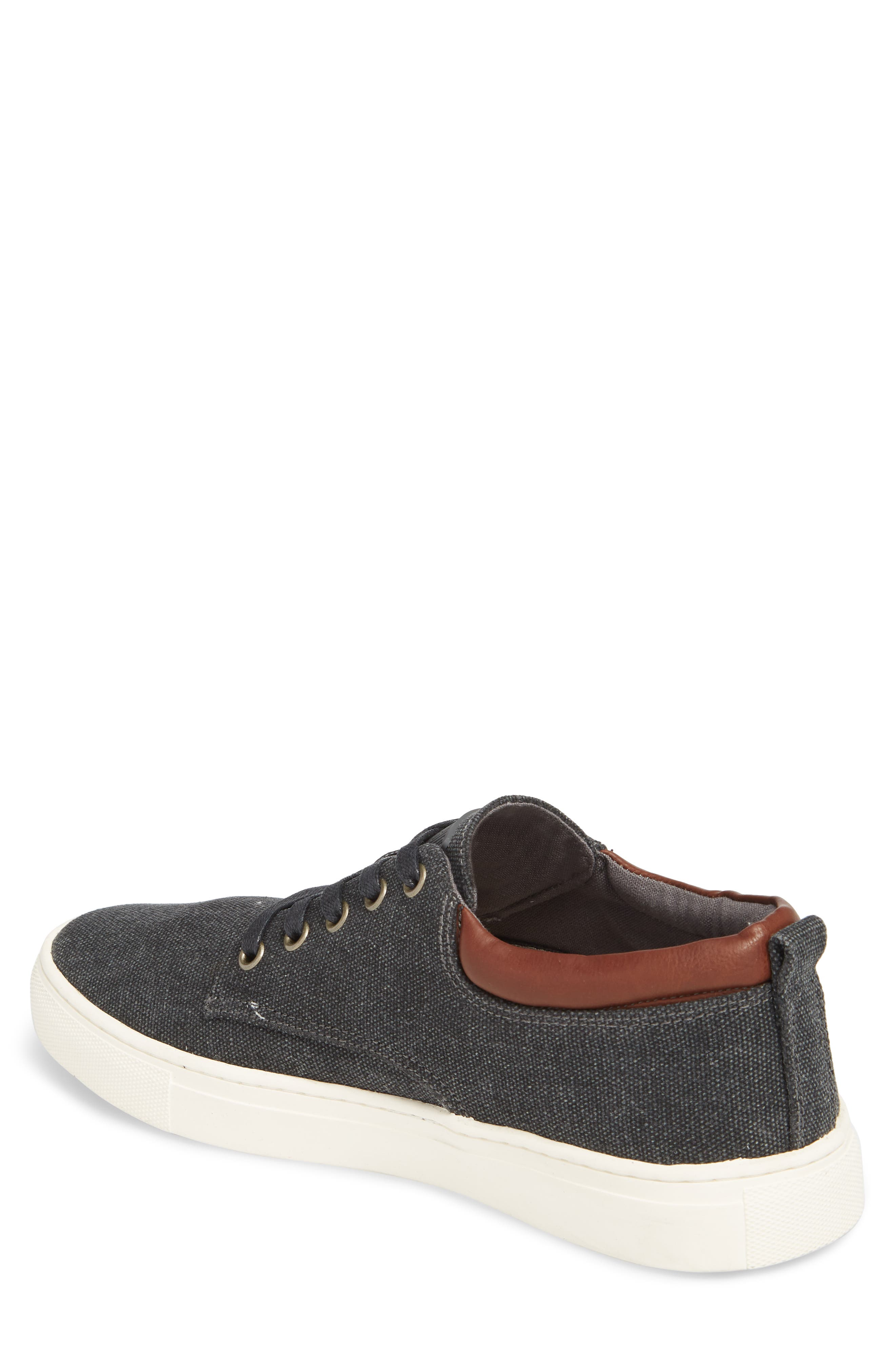 Fish 'N' Chips Hampton Low Top Sneaker,                             Alternate thumbnail 2, color,                             CHARCOAL FABRIC