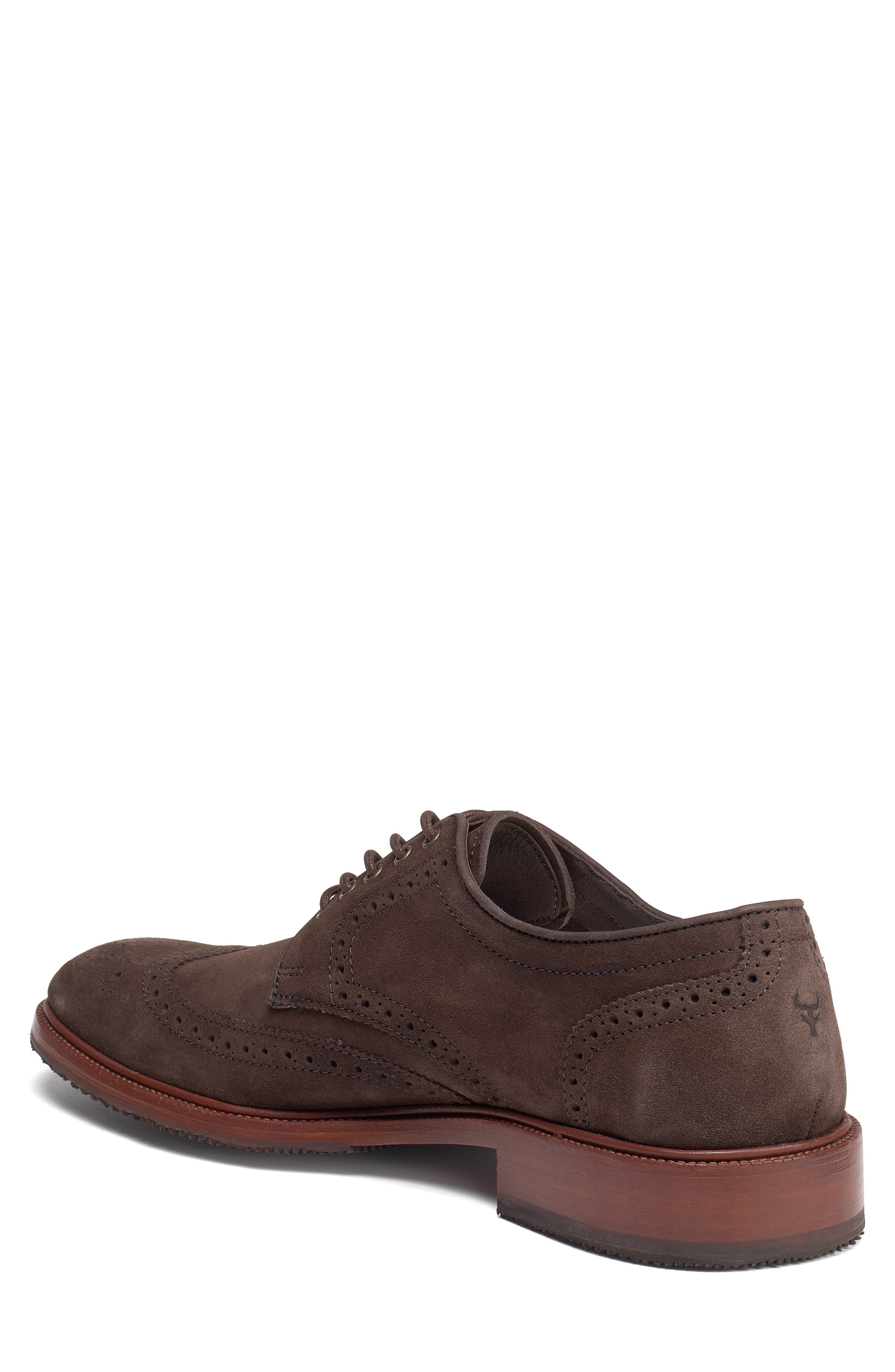 Logan Wingtip Derby,                             Alternate thumbnail 2, color,                             CHARCOAL SUEDE