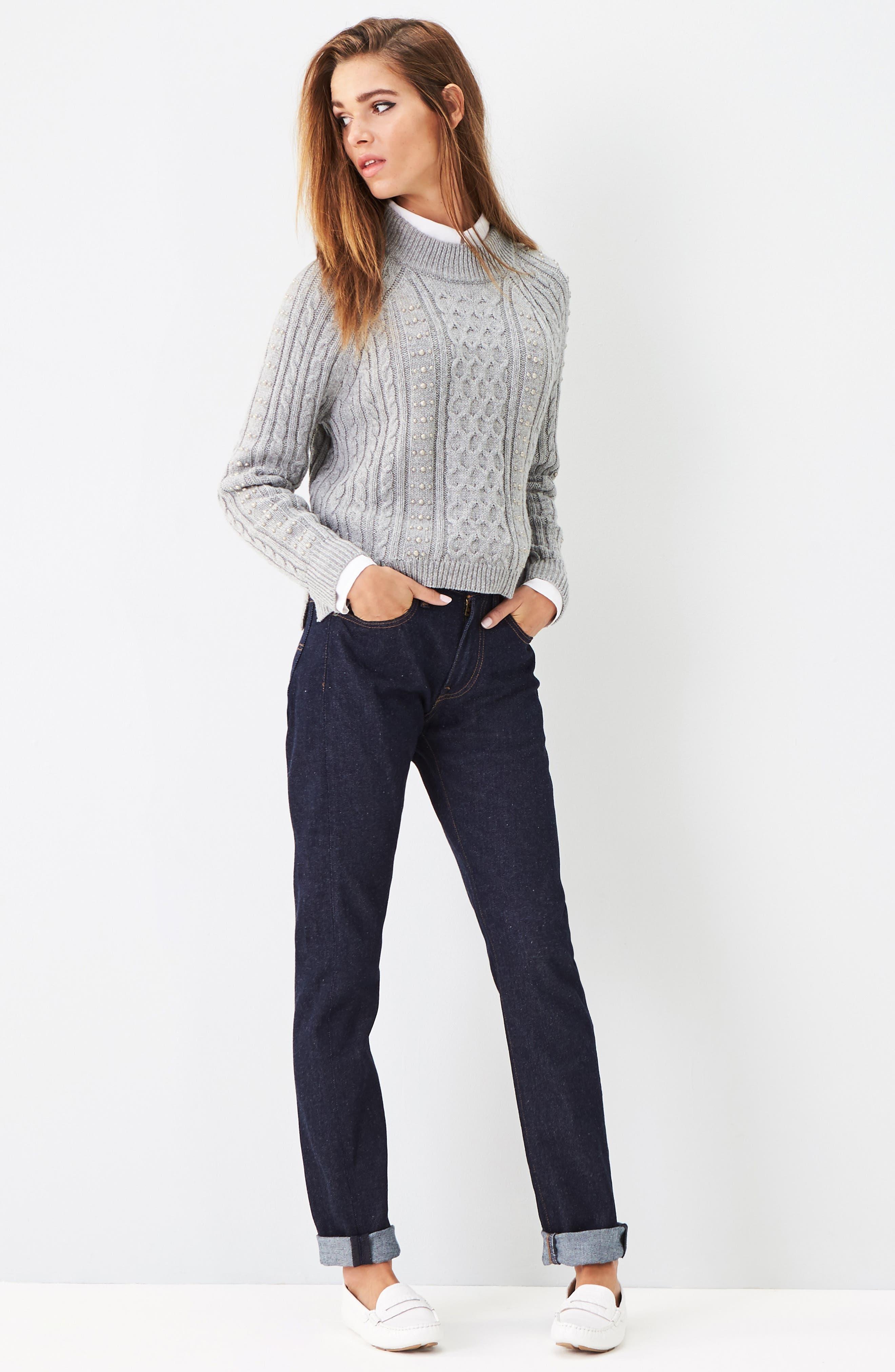 Cotton Blend Button Down Shirt,                             Alternate thumbnail 2, color,                             100