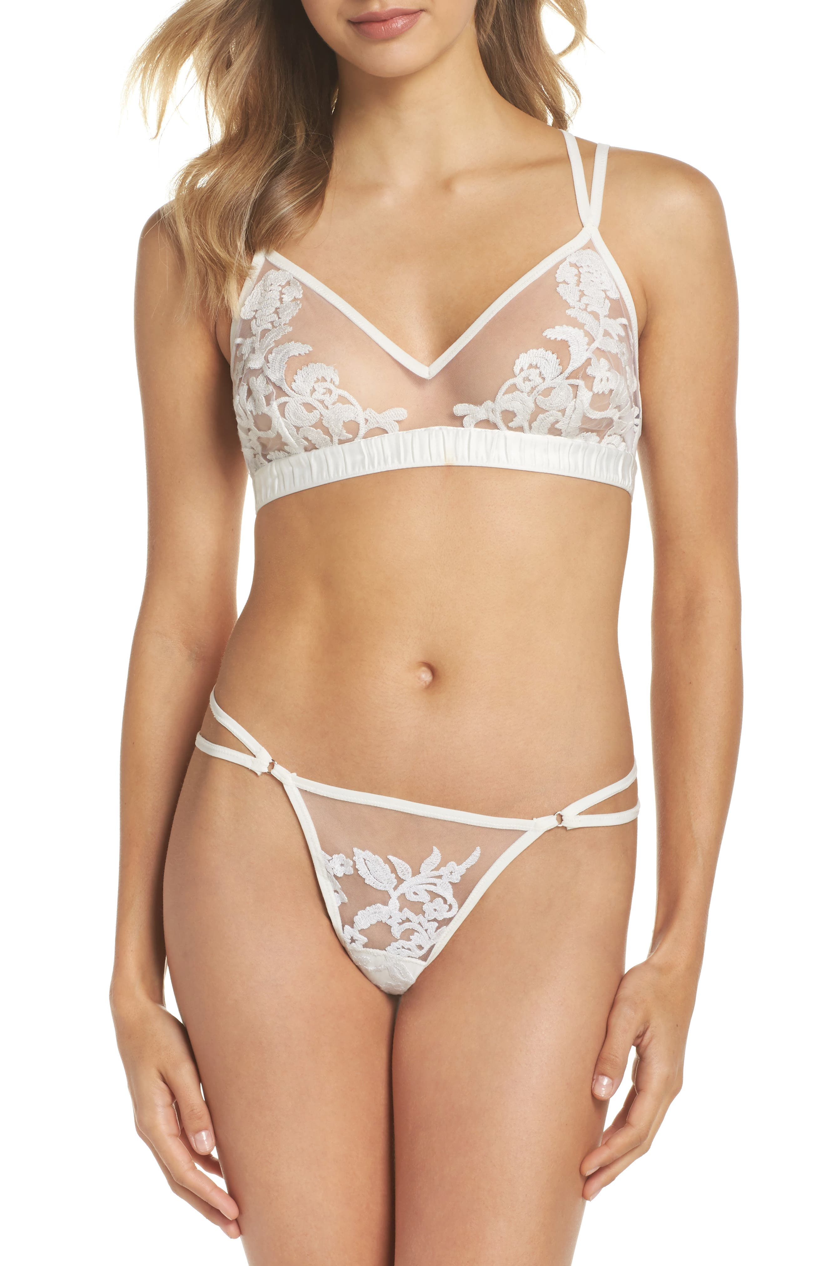 Thistle & Spire Cornelia Strappy Bralette,                             Alternate thumbnail 7, color,                             900