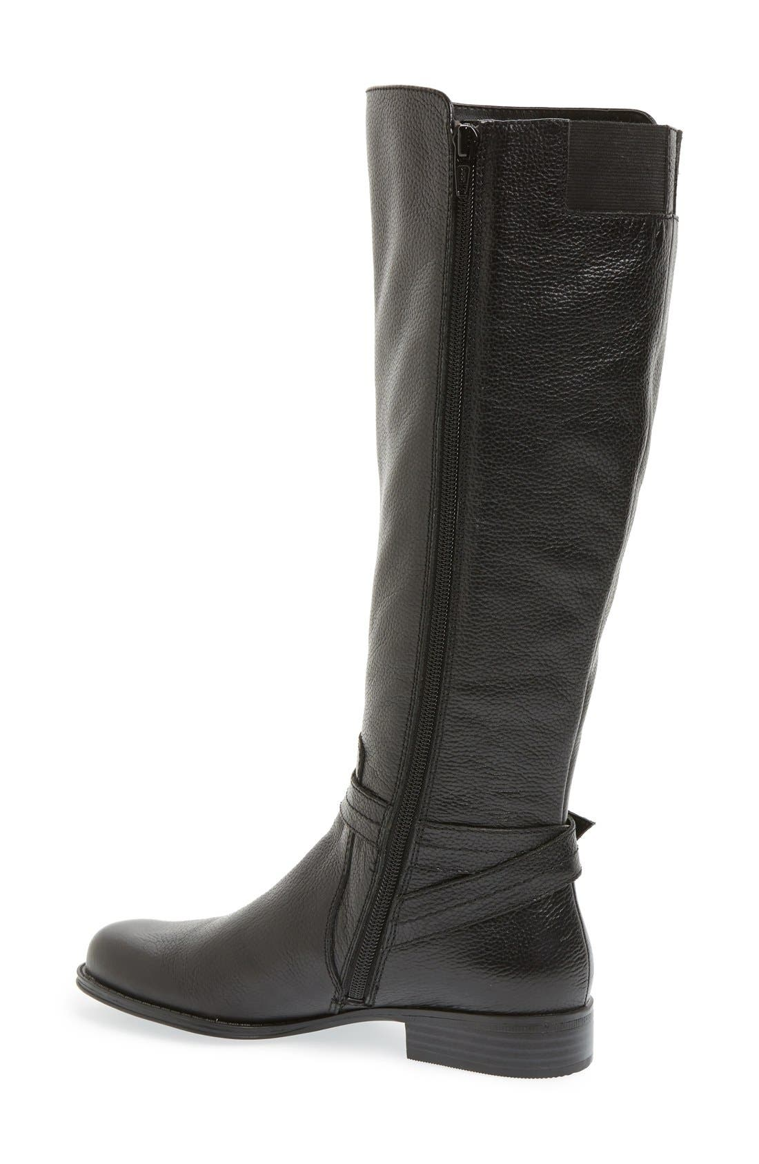 'Jelina' Riding Boot,                             Alternate thumbnail 4, color,                             001
