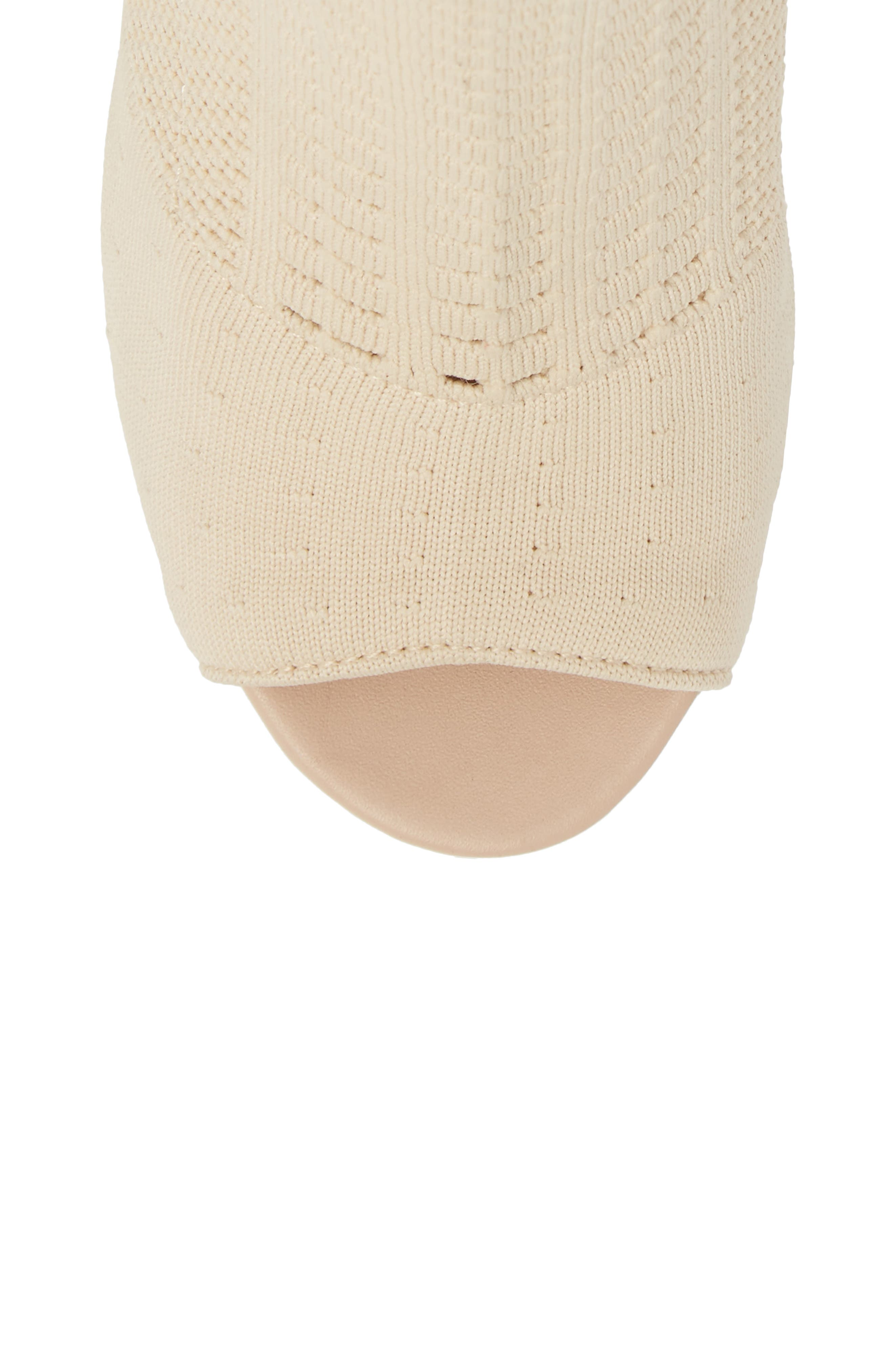 Can't Stop Open Toe Sock Bootie,                             Alternate thumbnail 5, color,                             NATURAL STRETCH