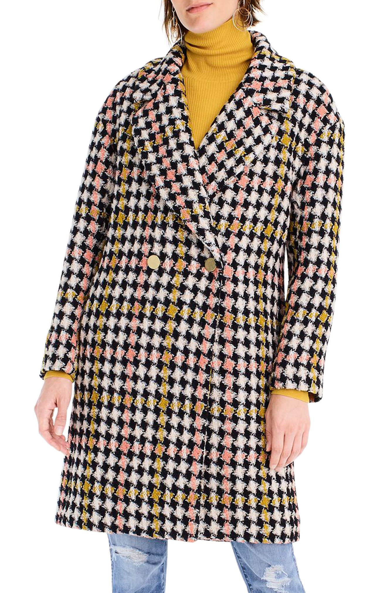 Collection Oversize Lurex<sup>®</sup> Tweed Coat,                             Main thumbnail 1, color,                             650