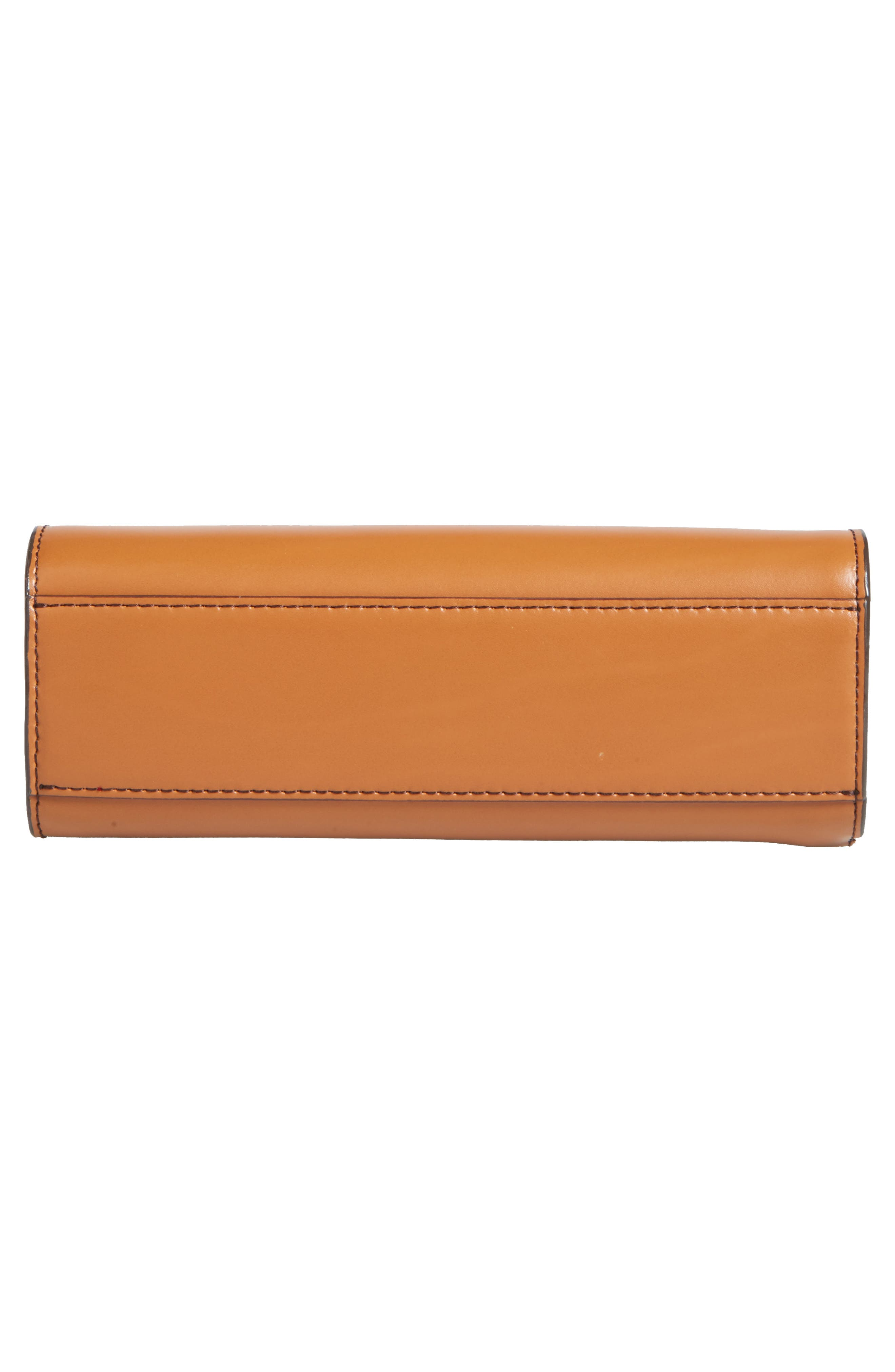 Audrey Under Lock & Key Vicky Convertible Leather Crossbody Bag,                             Alternate thumbnail 6, color,                             TOFFEE