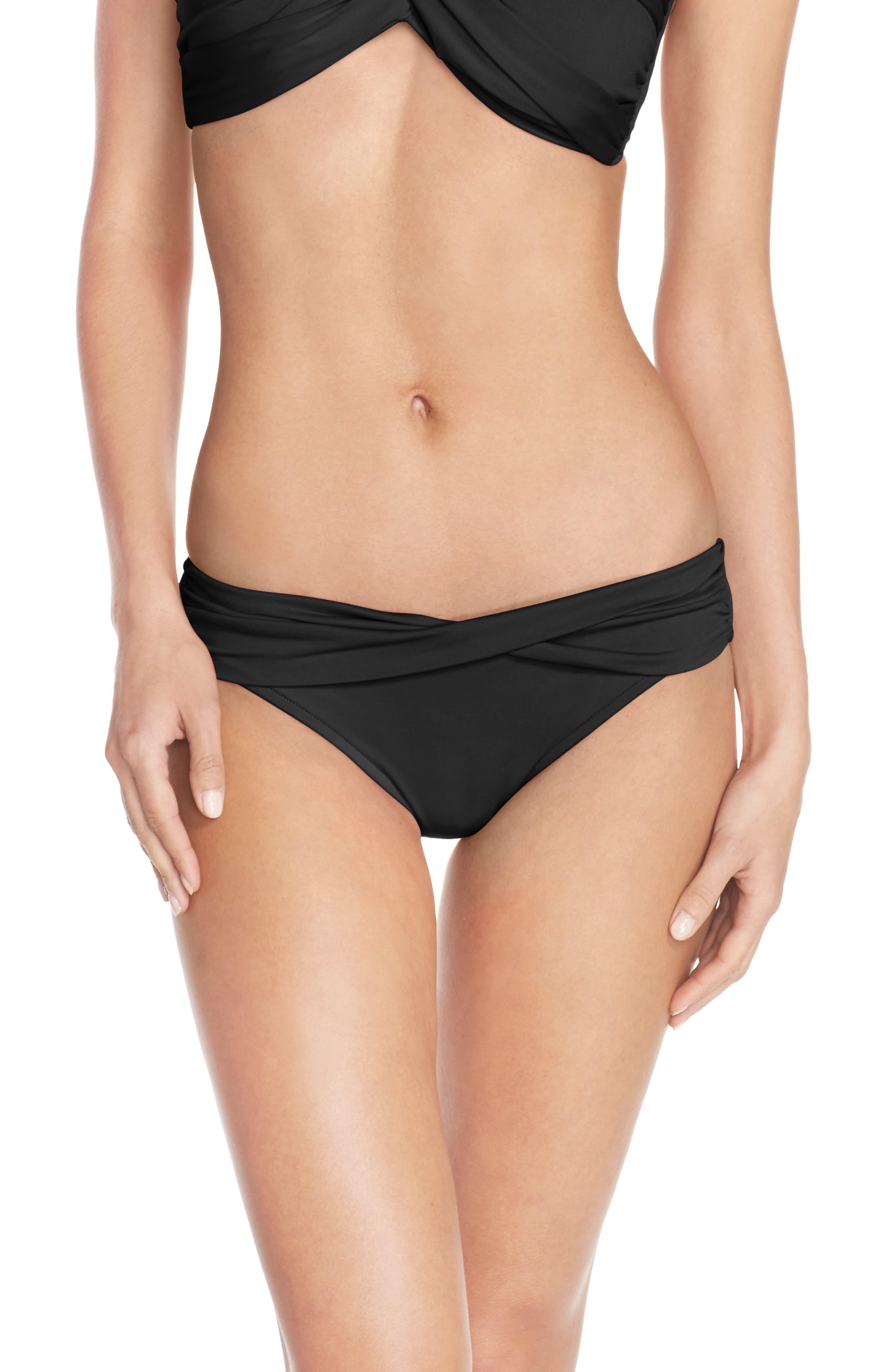 Hipster Bikini Bottoms,                             Main thumbnail 1, color,                             BLACK