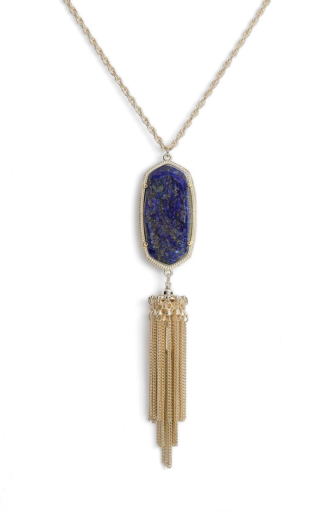 'Rayne' Tassel Pendant Necklace,                             Alternate thumbnail 19, color,