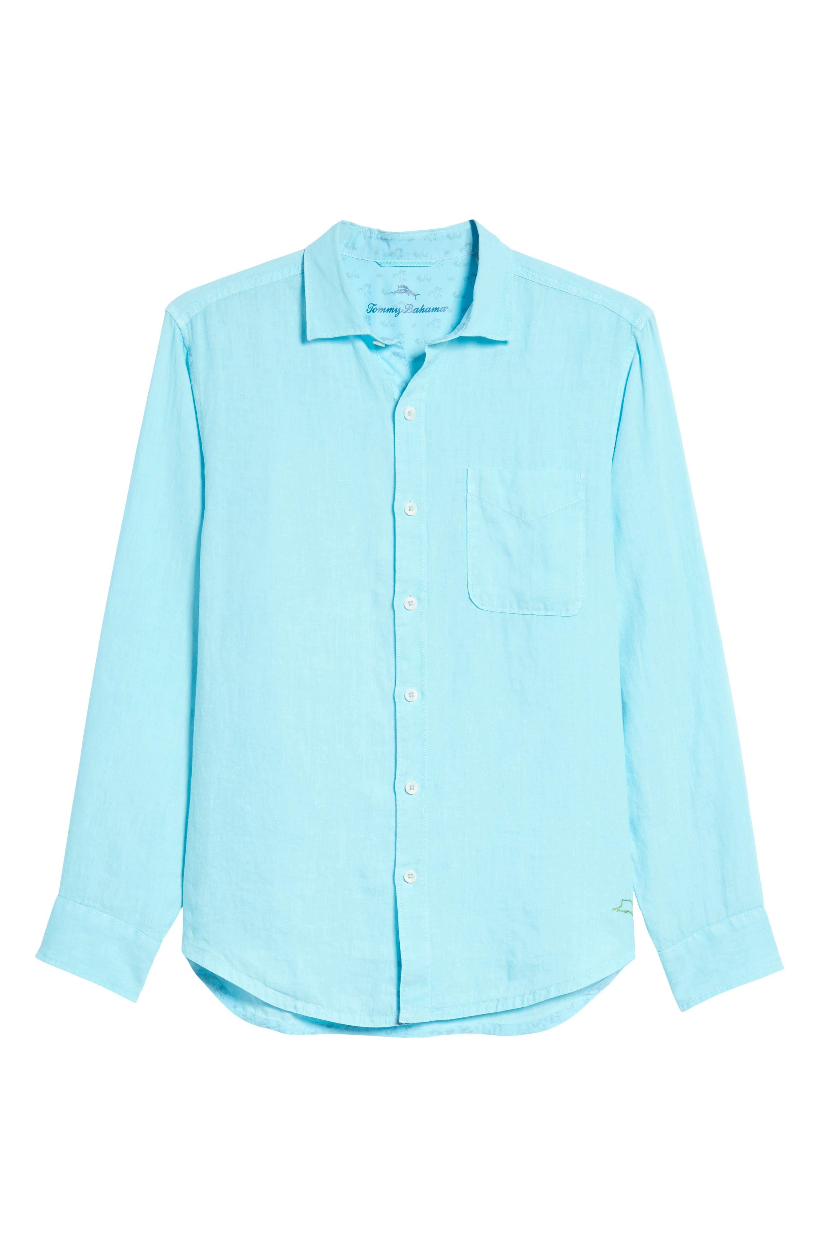 Seaspray Breezer Linen Shirt,                             Alternate thumbnail 24, color,