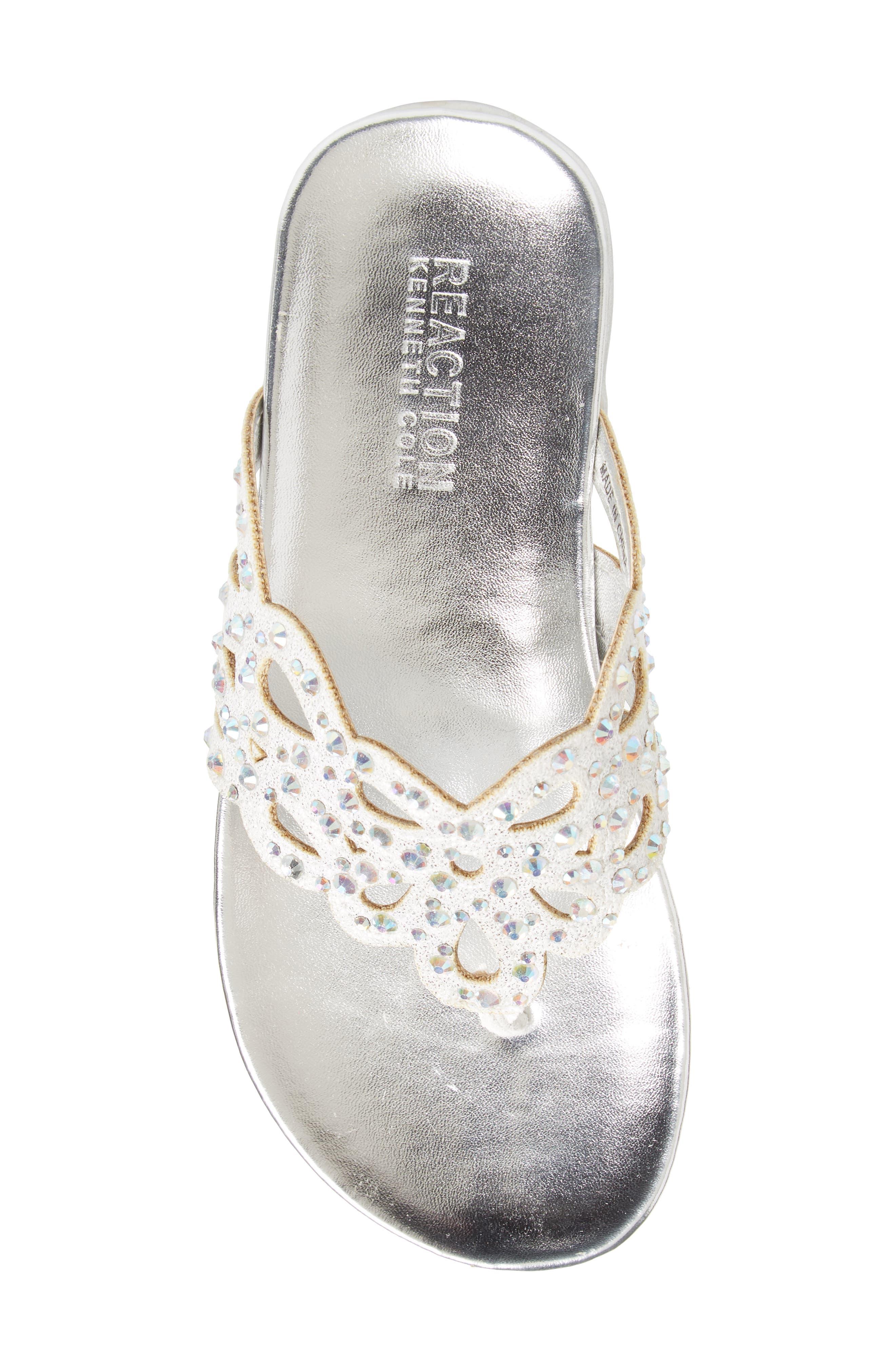 Kenneth Cole New York Flutter Metallic Crystal Thong Sandal,                             Alternate thumbnail 5, color,                             044