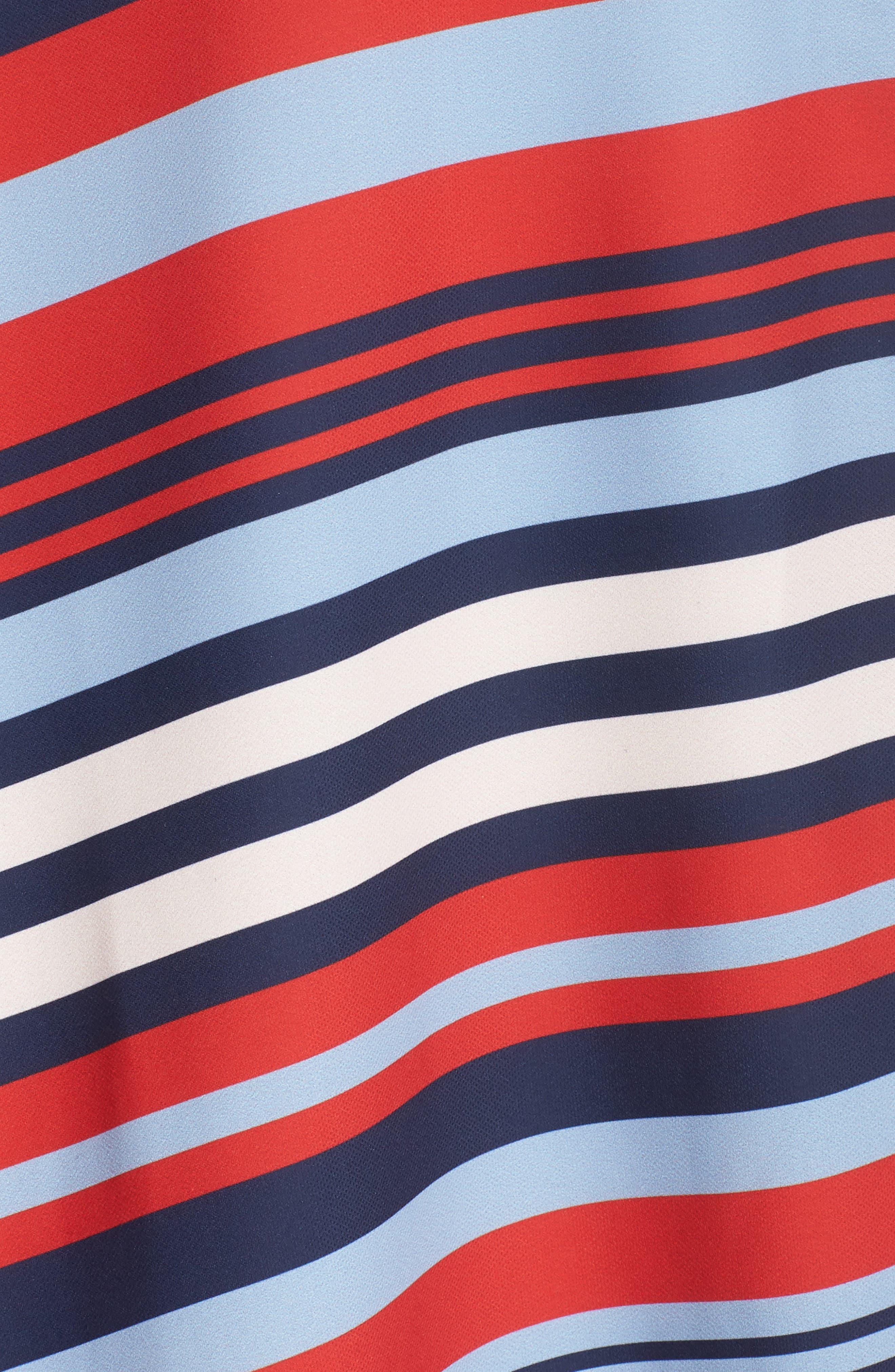 Milan Stripe Wrap Dress,                             Alternate thumbnail 6, color,                             648