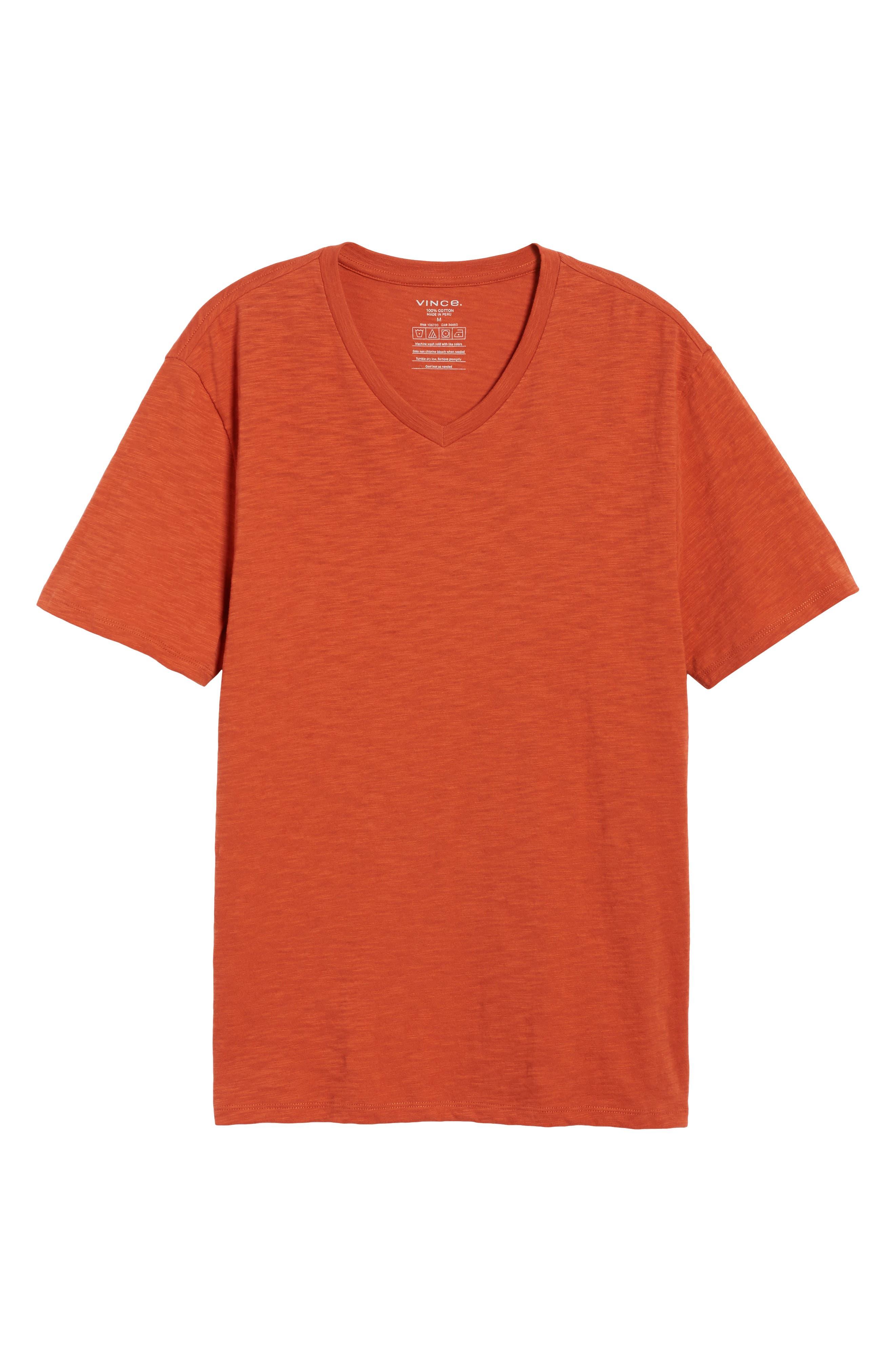 Slim Fit Slub V-Neck T-Shirt,                             Alternate thumbnail 12, color,