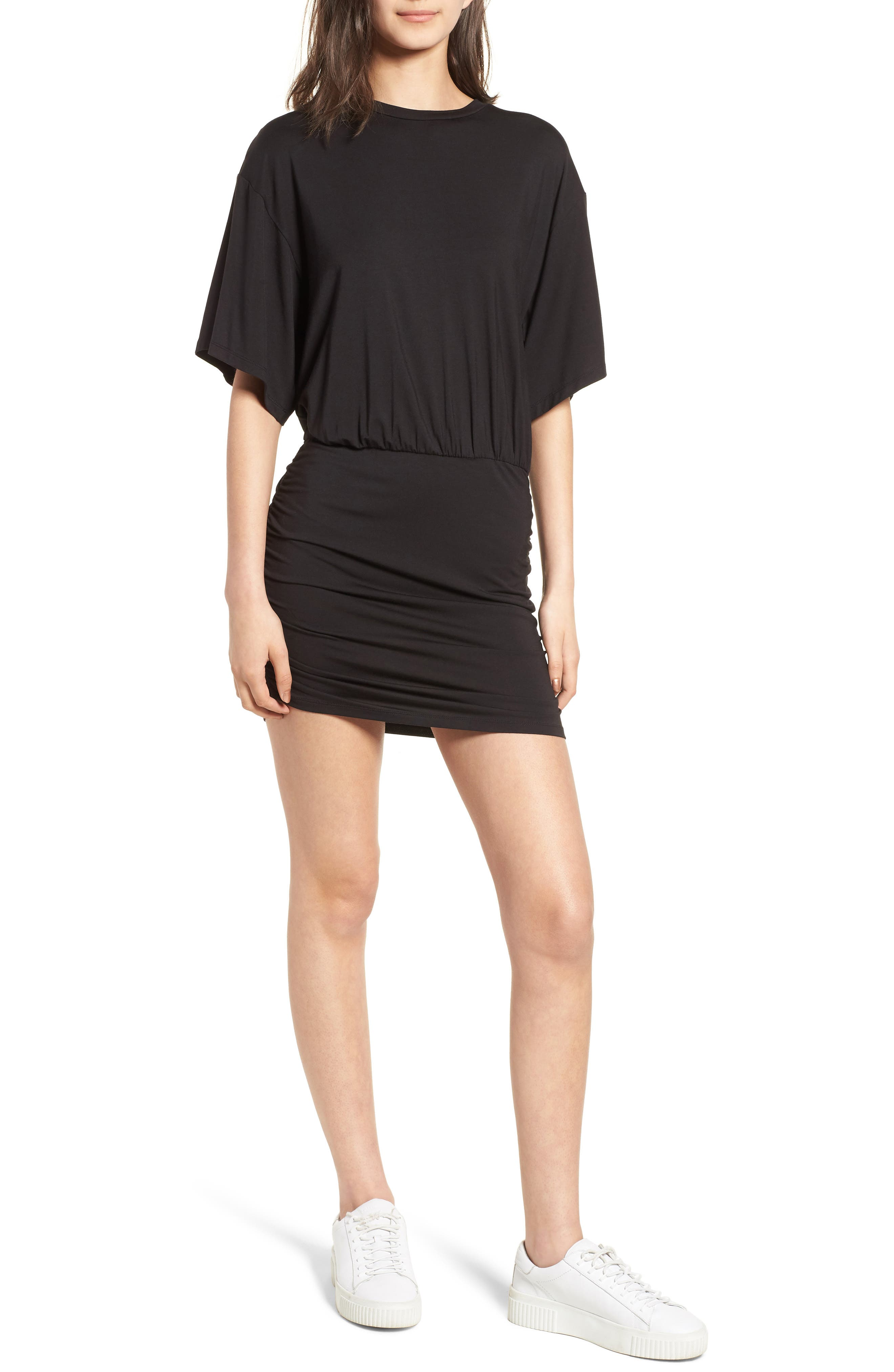 KENDALL + KYLIE,                             Open Back T-Shirt Dress,                             Main thumbnail 1, color,                             001