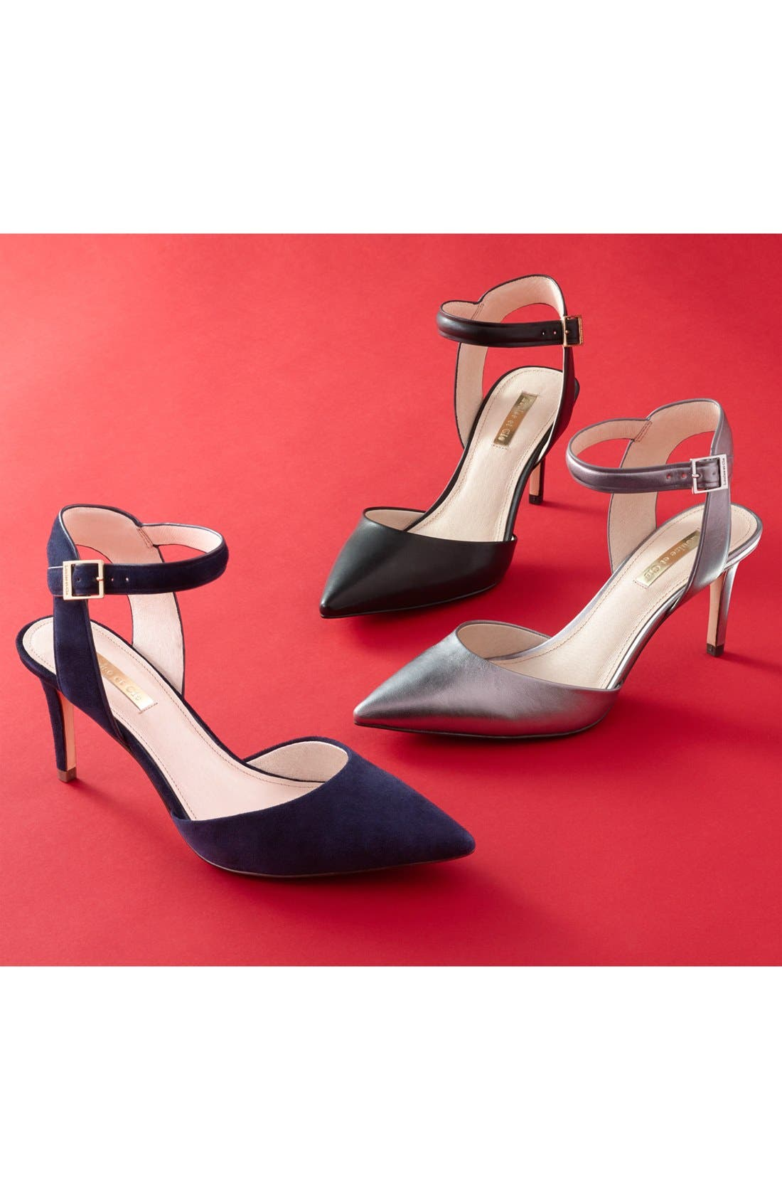 Kota Ankle Strap Pump,                             Alternate thumbnail 7, color,                             002