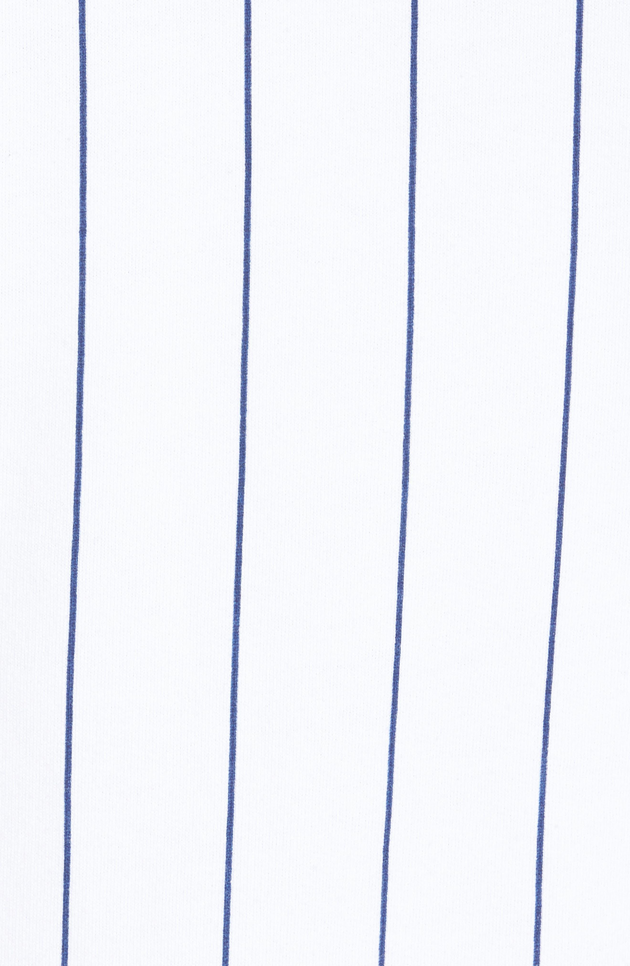 Stripe Blocked Sweatshirt,                             Alternate thumbnail 5, color,                             STANDARD WHITE