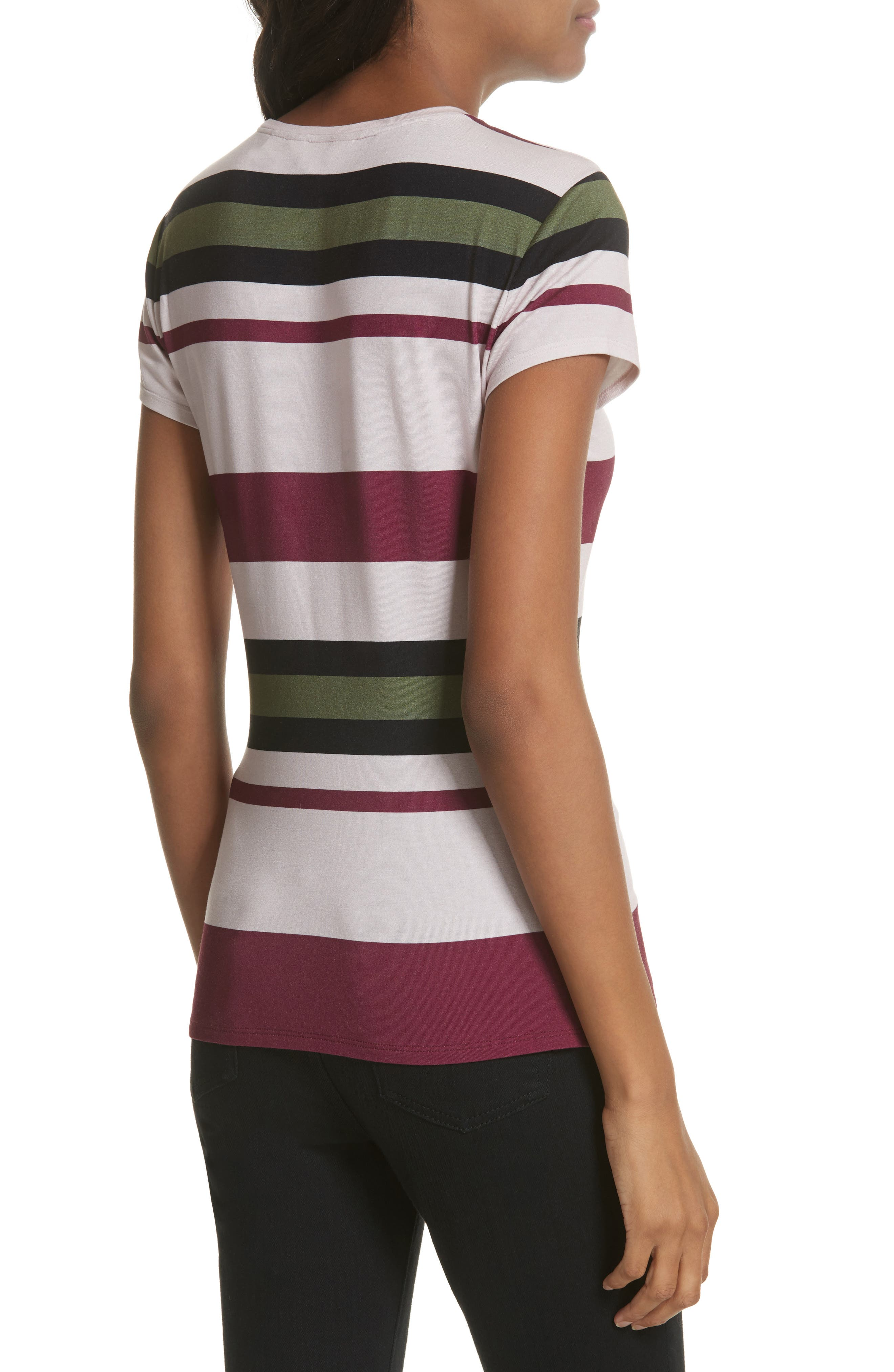 Imperial Stripe Fitted Tee,                             Alternate thumbnail 2, color,
