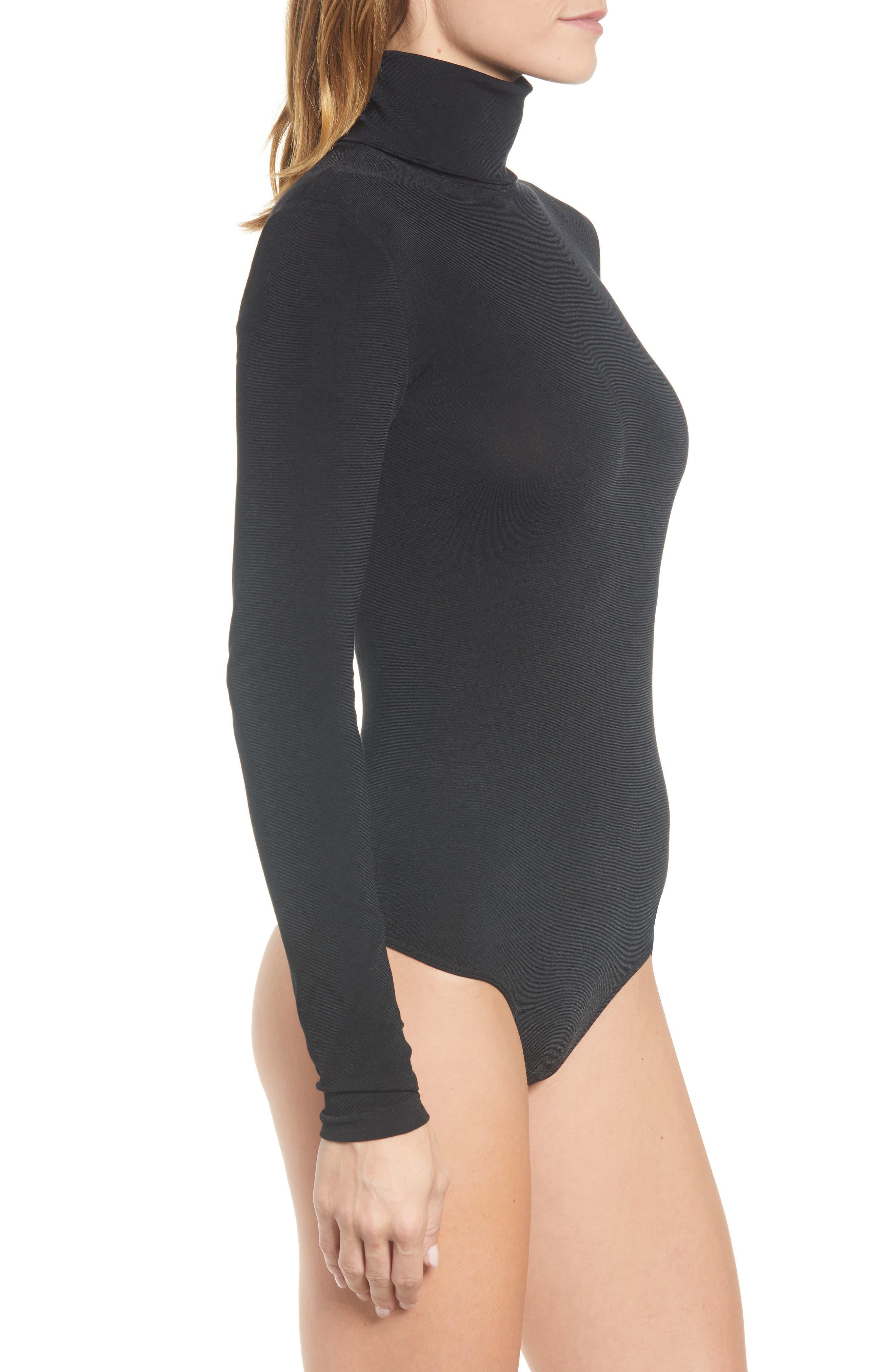 'Colorado' Bodysuit,                             Alternate thumbnail 3, color,                             BLACK