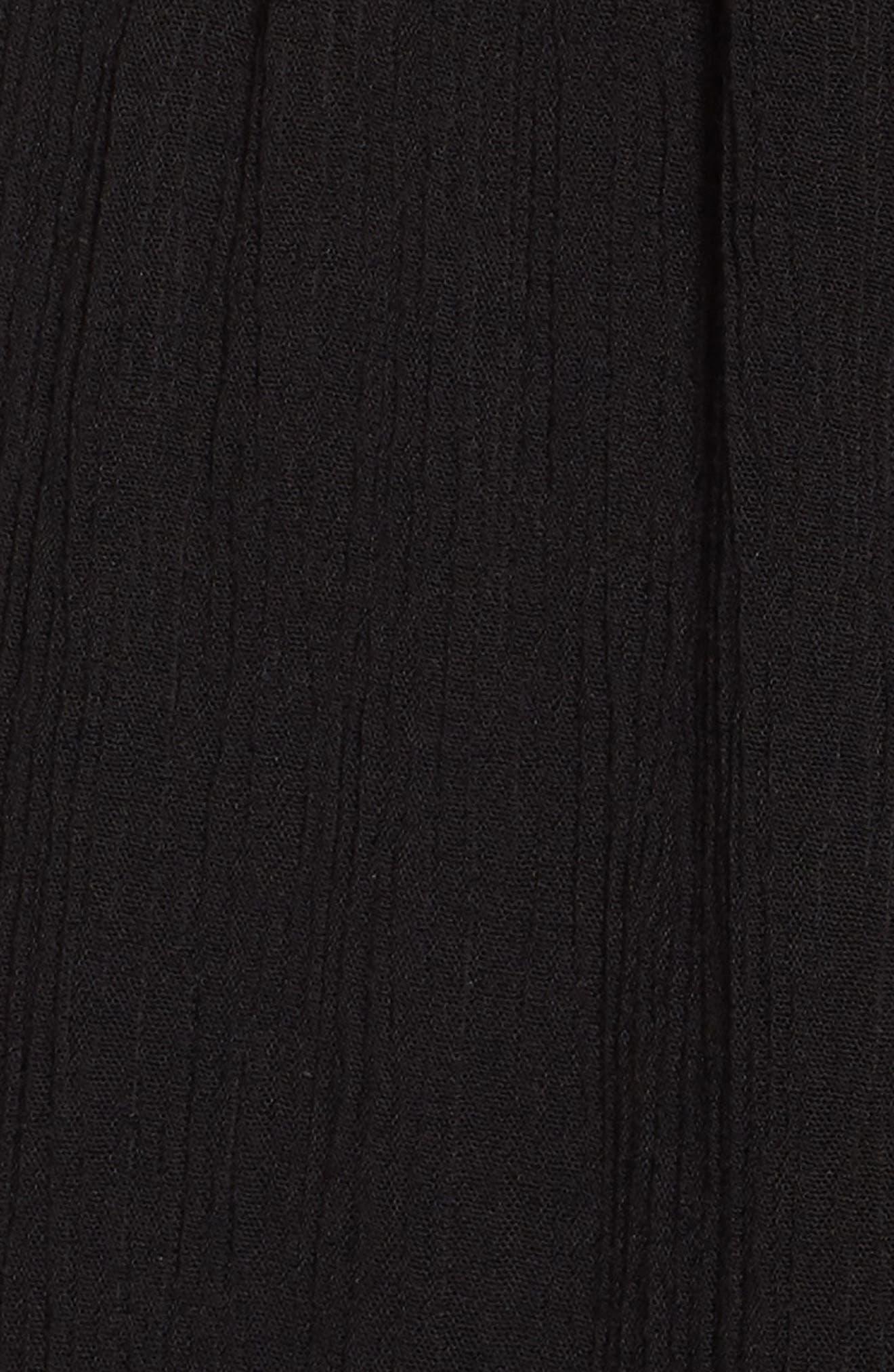 Tie Front Maxi Dress,                             Alternate thumbnail 5, color,                             001