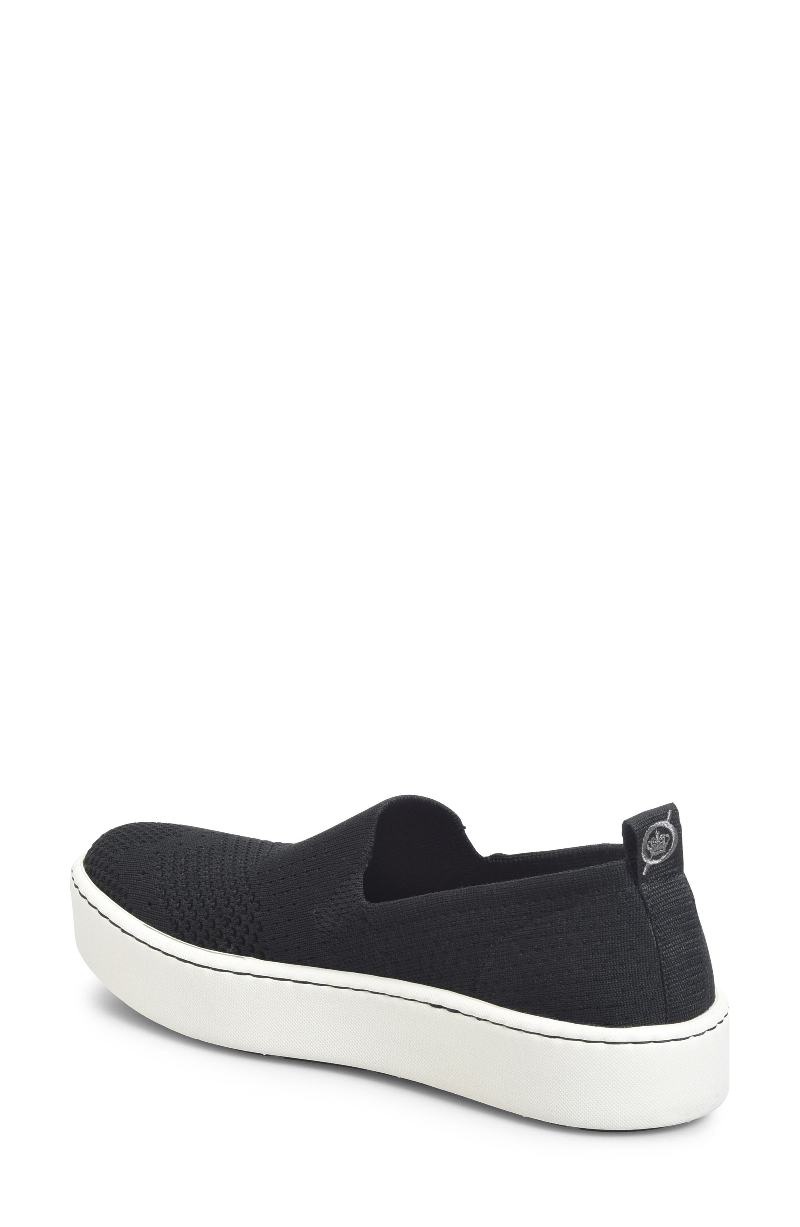 Sun Slip-On Sneaker,                             Alternate thumbnail 2, color,                             BLACK FABRIC