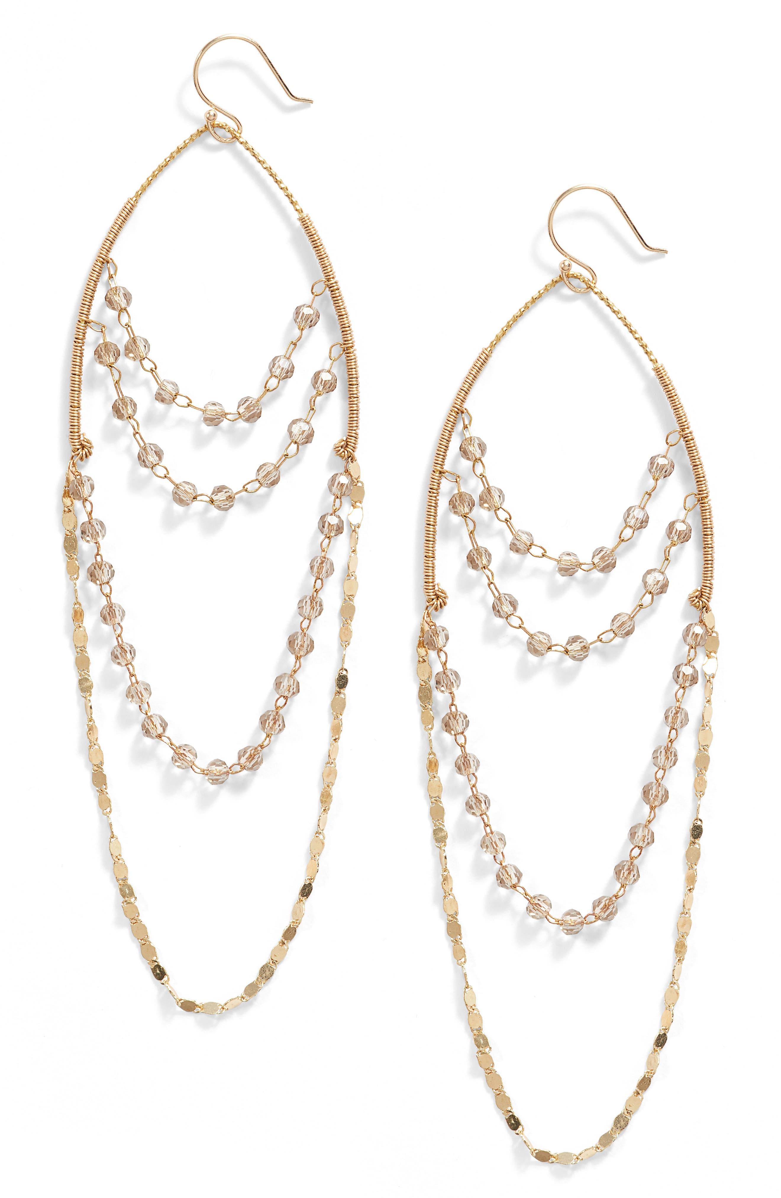 Beaded Chandelier Drop Earrings,                         Main,                         color, 020